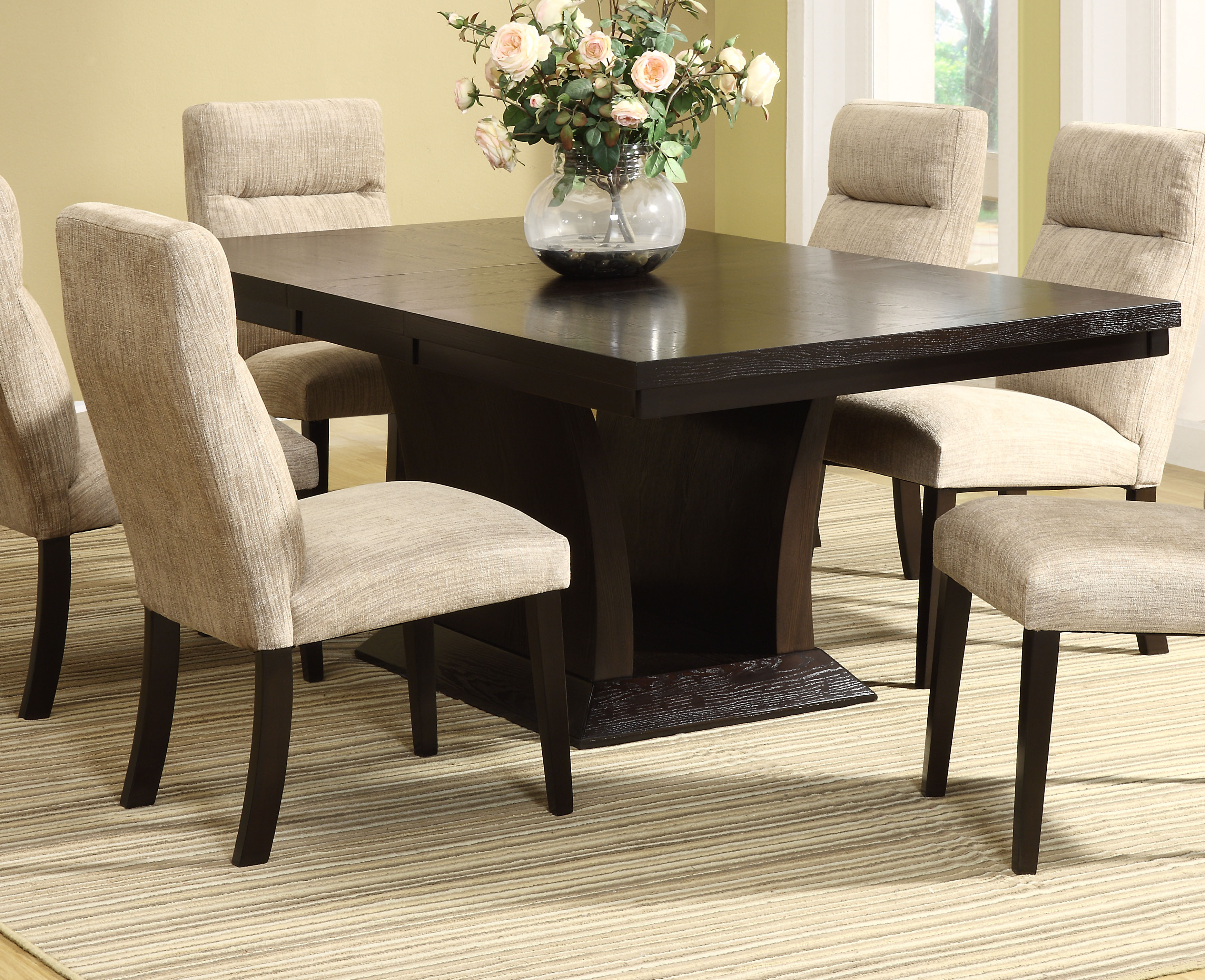avery espresso dining table dallas tx dining room dining tables