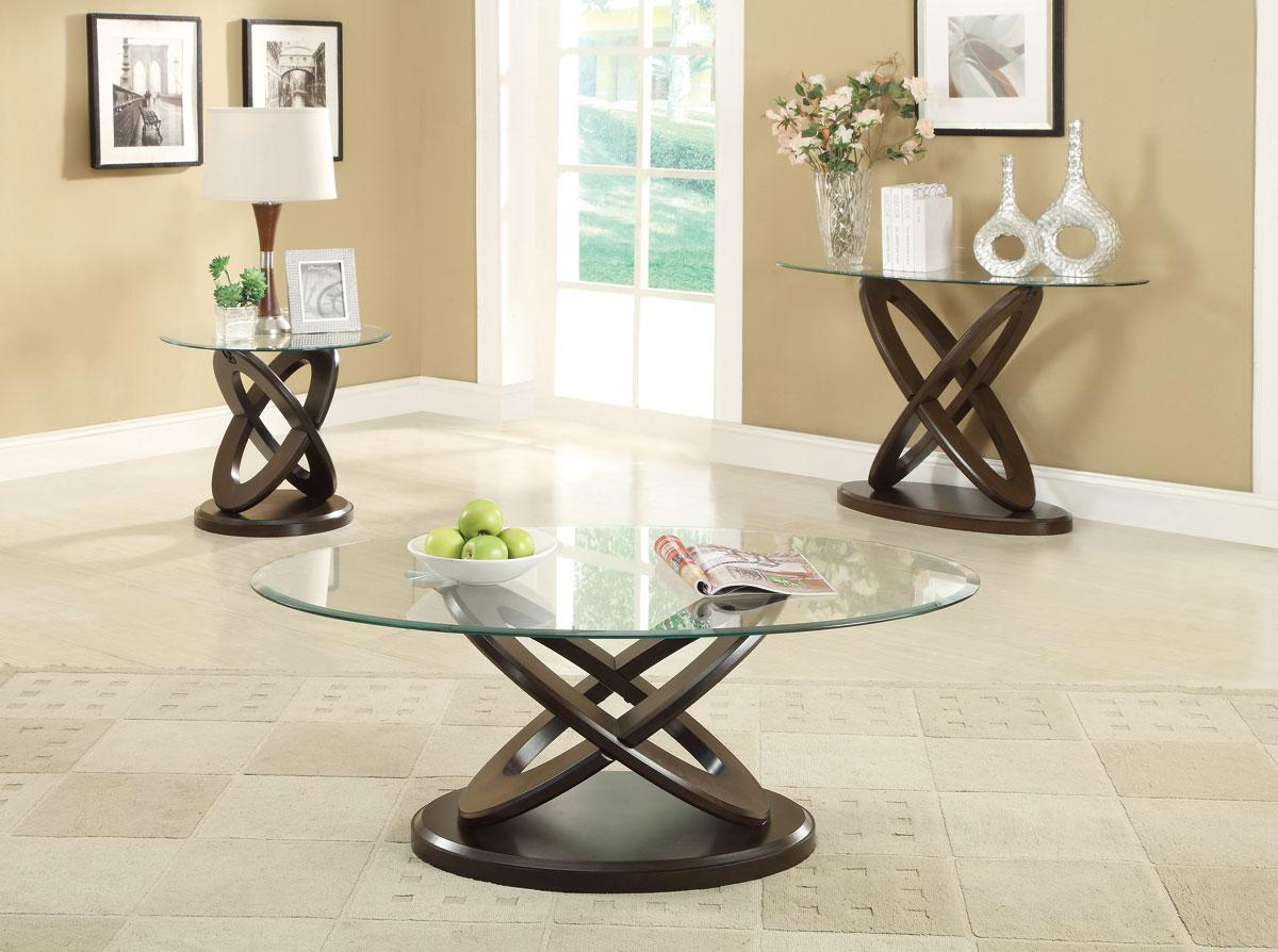 Coaster The Newtron 3pc Coffee Table Set Dallas Tx Occasional Tables Furniture Nation