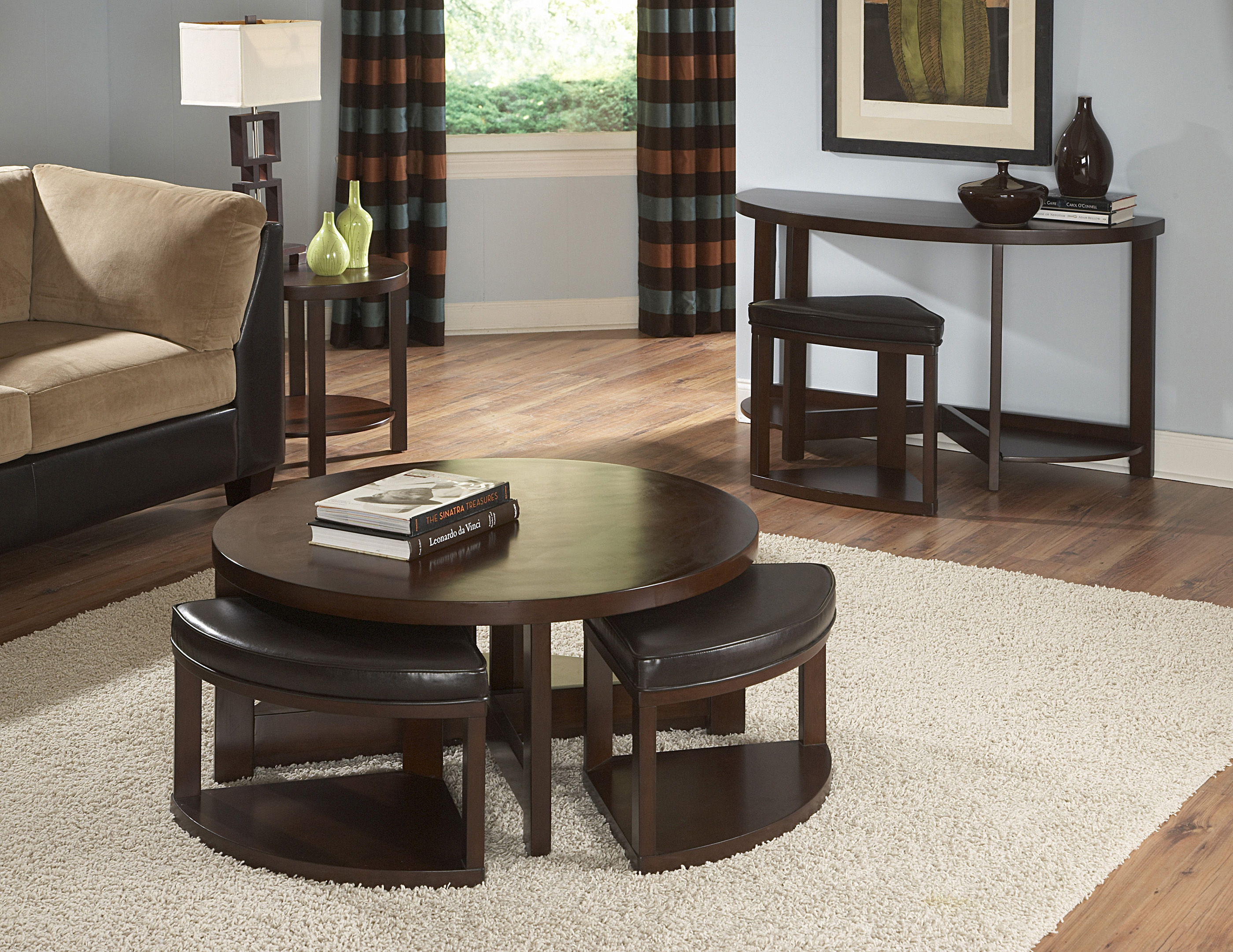 desks with storage homelegance brussel wood top 3pc coffee table set with 4 14700