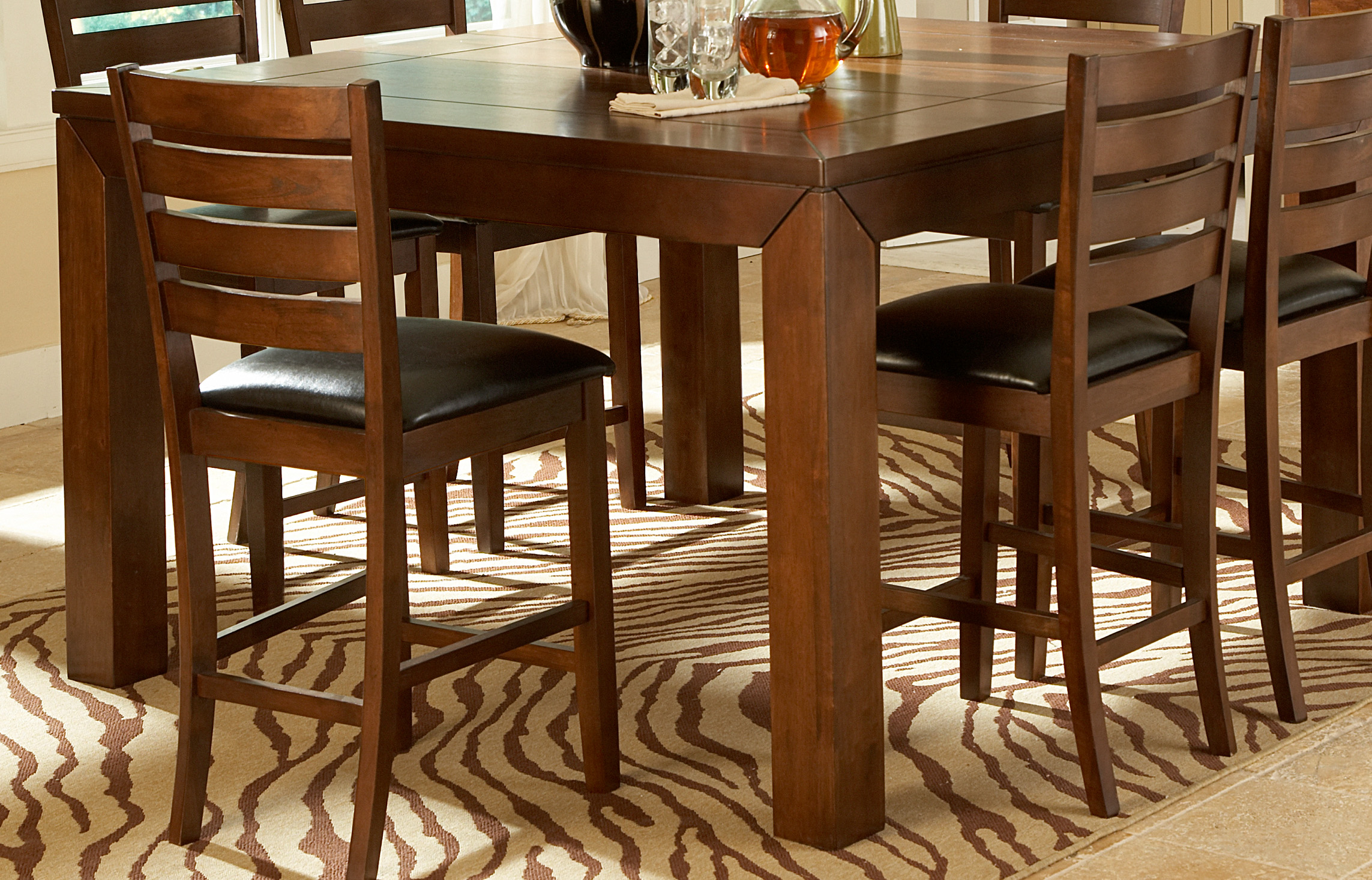 Homelegance eagleville 5pc counter height set dallas tx for Dining room sets dallas tx