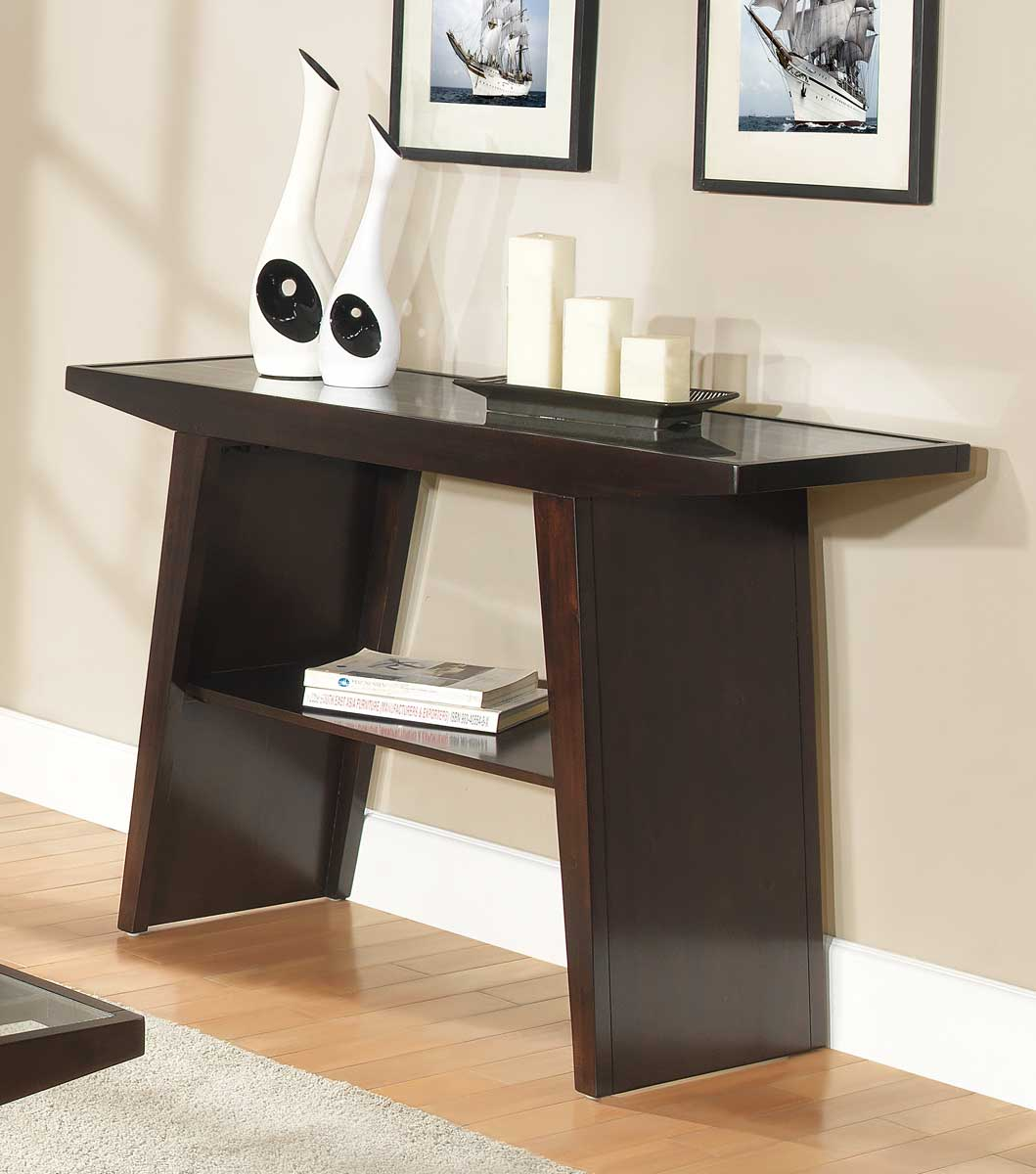 Homelegance Cullum Dark Espresso Sofa Table