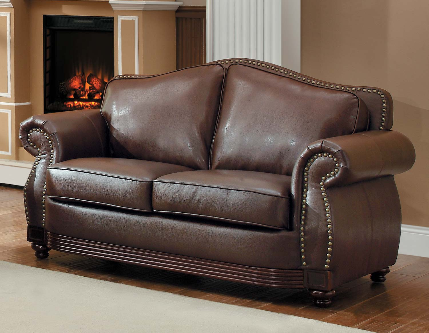 Homelegance Midwood Brown Loveseat Dallas Tx Living Room Loveseat Furniture Nation