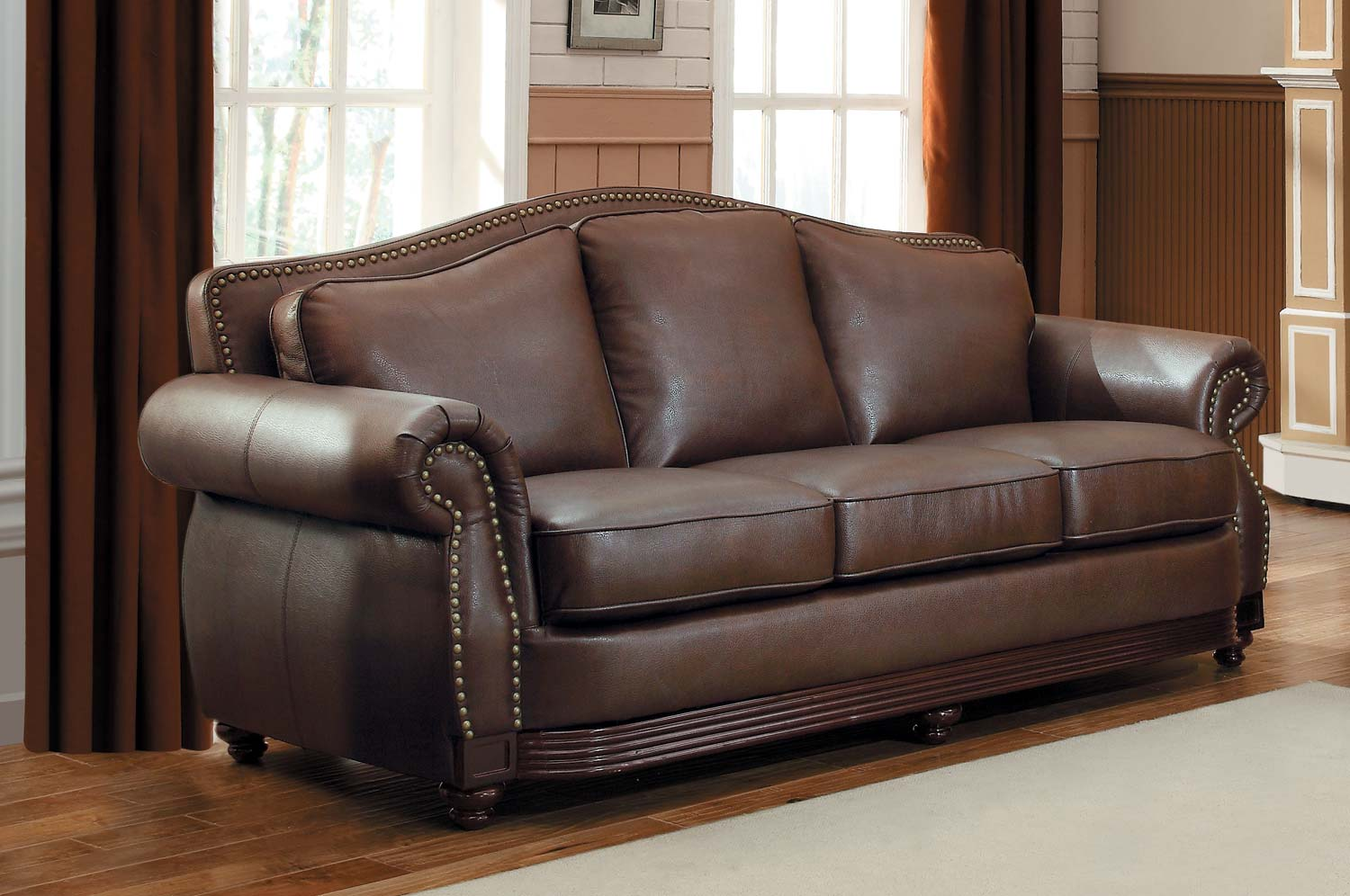 Homelegance Midwood Brown Sofa
