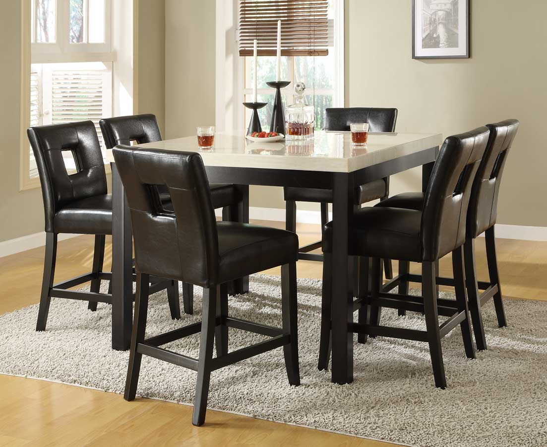 Homelegance Archstone 7pc Black Square Dining Table Set Dallas Tx Dining Room Sets Furniture Nation