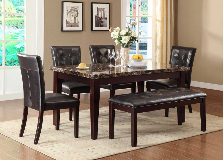 Terrific Homelegance Teague 6Pc Espresso Dining Table Set Ibusinesslaw Wood Chair Design Ideas Ibusinesslaworg