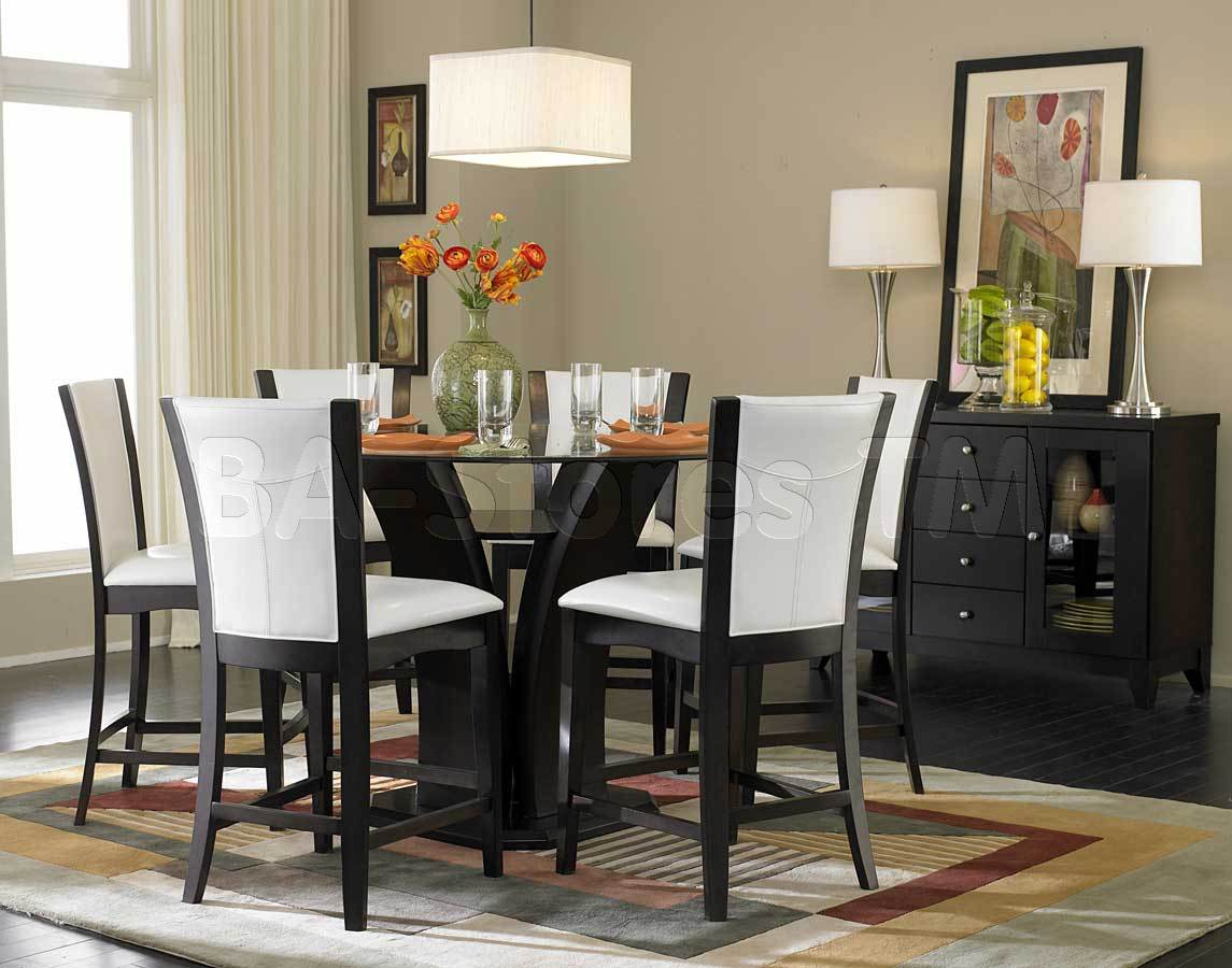 Homelegance Daisy 7pc White Counter Height Dining Room Set