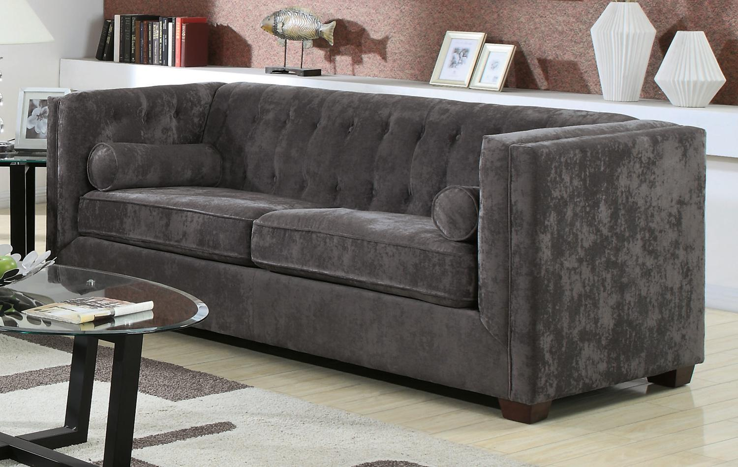 Coaster alexis charcoal sofa dallas tx living room sofa for Charcoal sofa living room