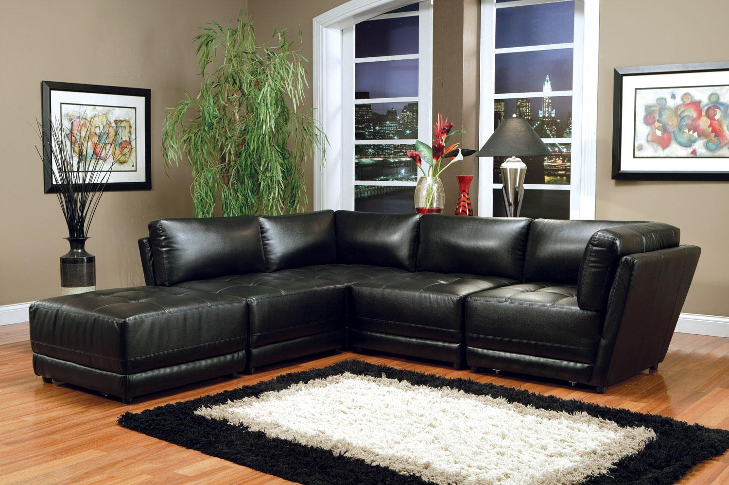 Coaster Kayson Black 5pc Modular Sectional Dallas Tx Living Room Sectional Furniture Nation