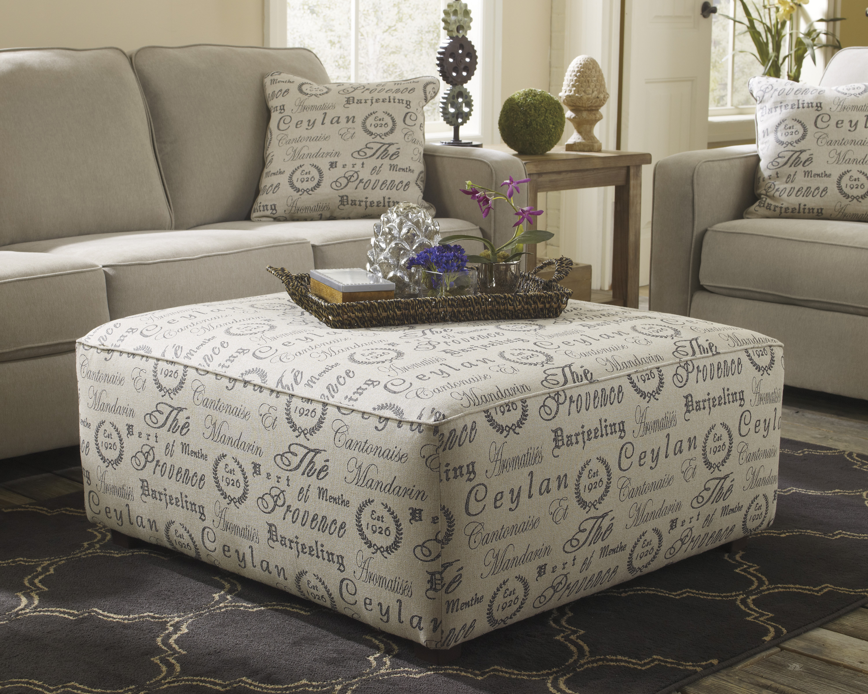 Ashley Alenya Oversized Accent Ottoman