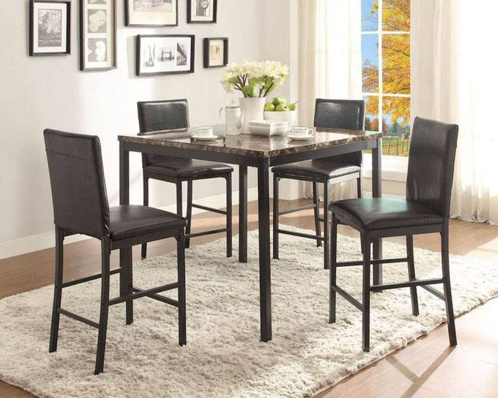 Homelegance Tempe 5pc Counter Height Dining Room Set