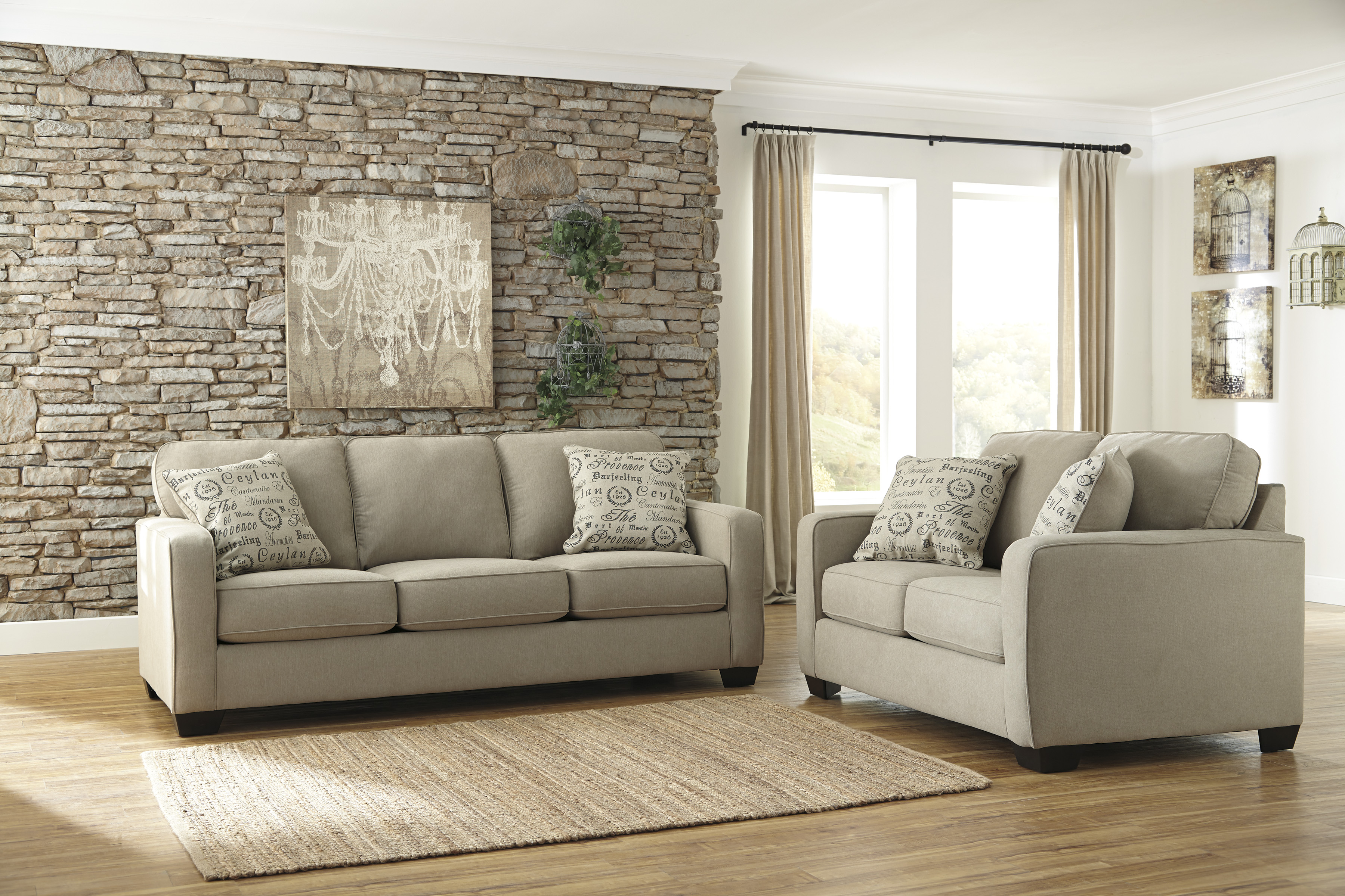 Ashley Alenya 2pc Sofa Loveseat Set