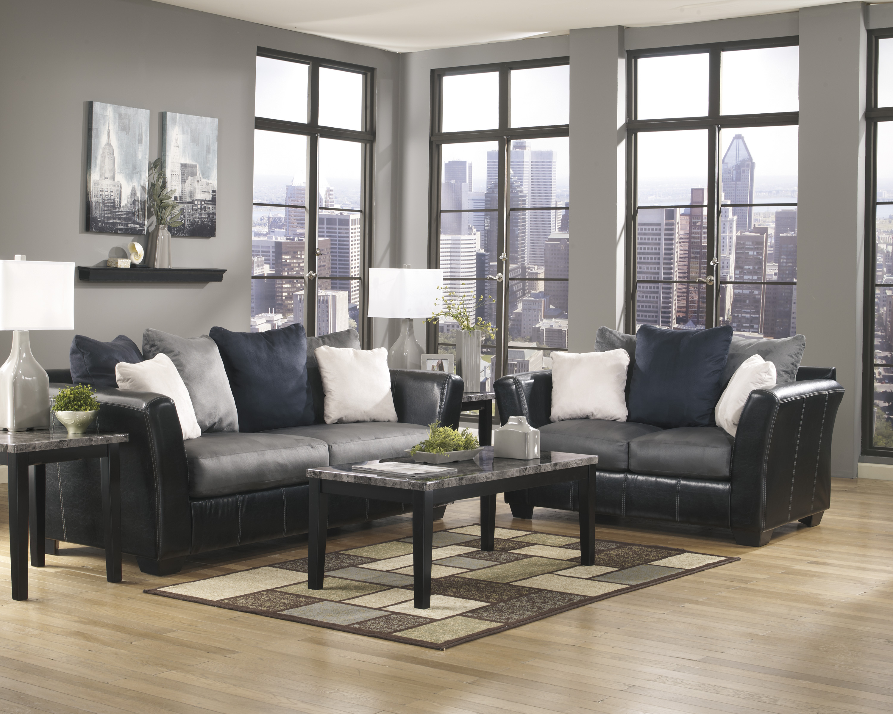 home living room living room set masoli cobblestone sofa loveseat set