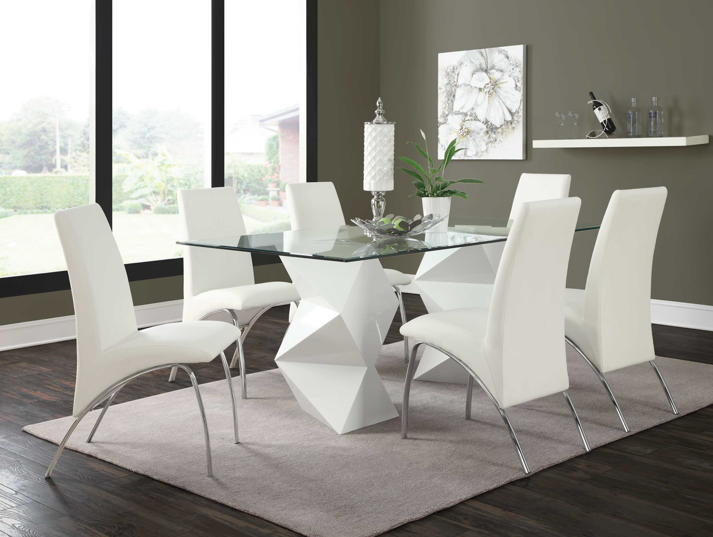 Coaster Ophelia White 7pc Dining Room Set Available Online In Dallas Fort  Worth Texas. Please Upgrade To Full Version Of Magic Zoom™