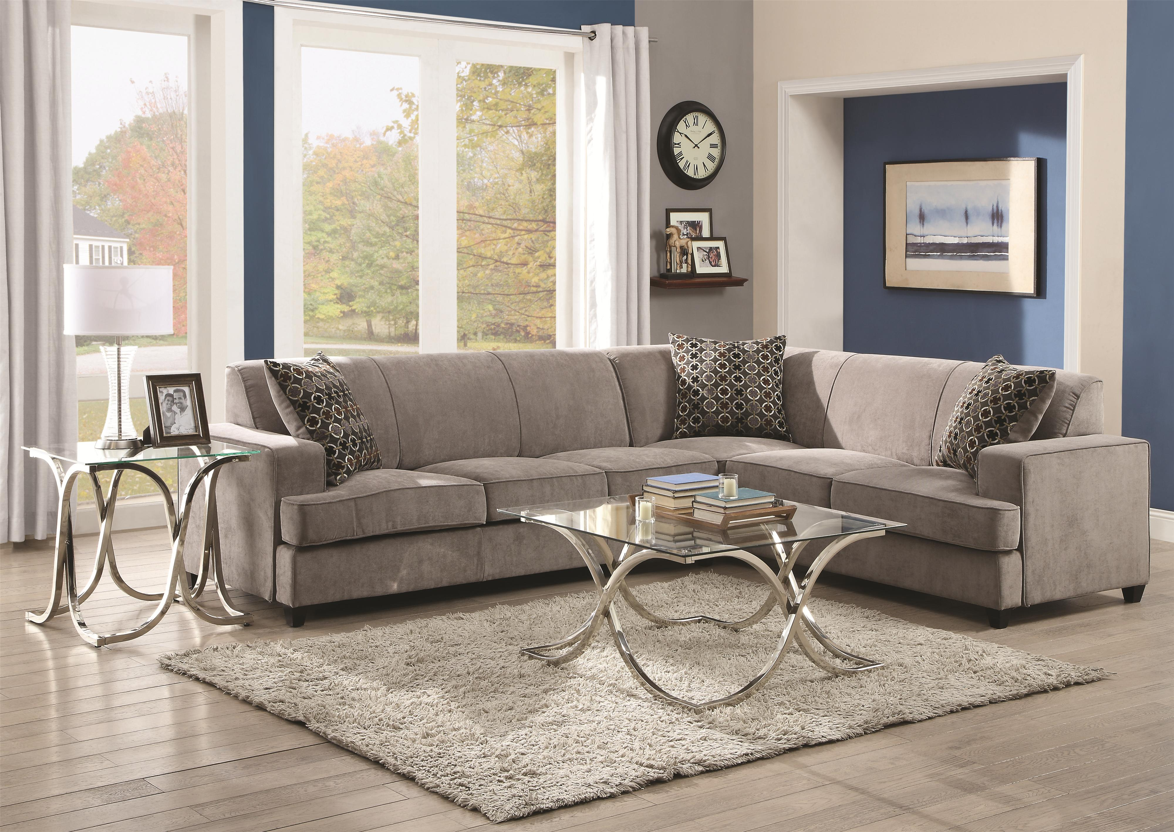 Coaster Tess Sleeper Sectional Dallas Tx Living Room Sectional