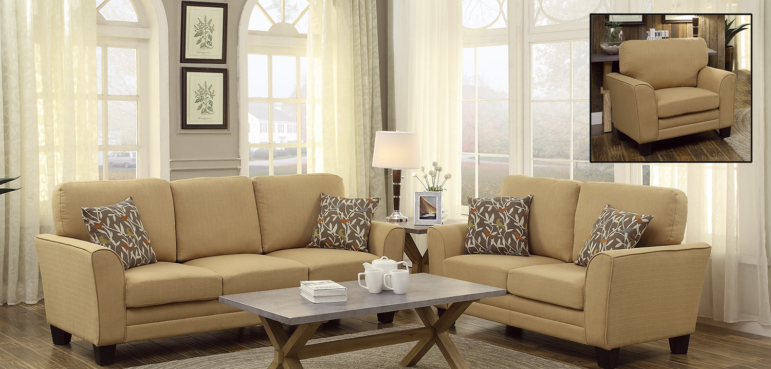 home living room living room set adair yellow 2pc living room set
