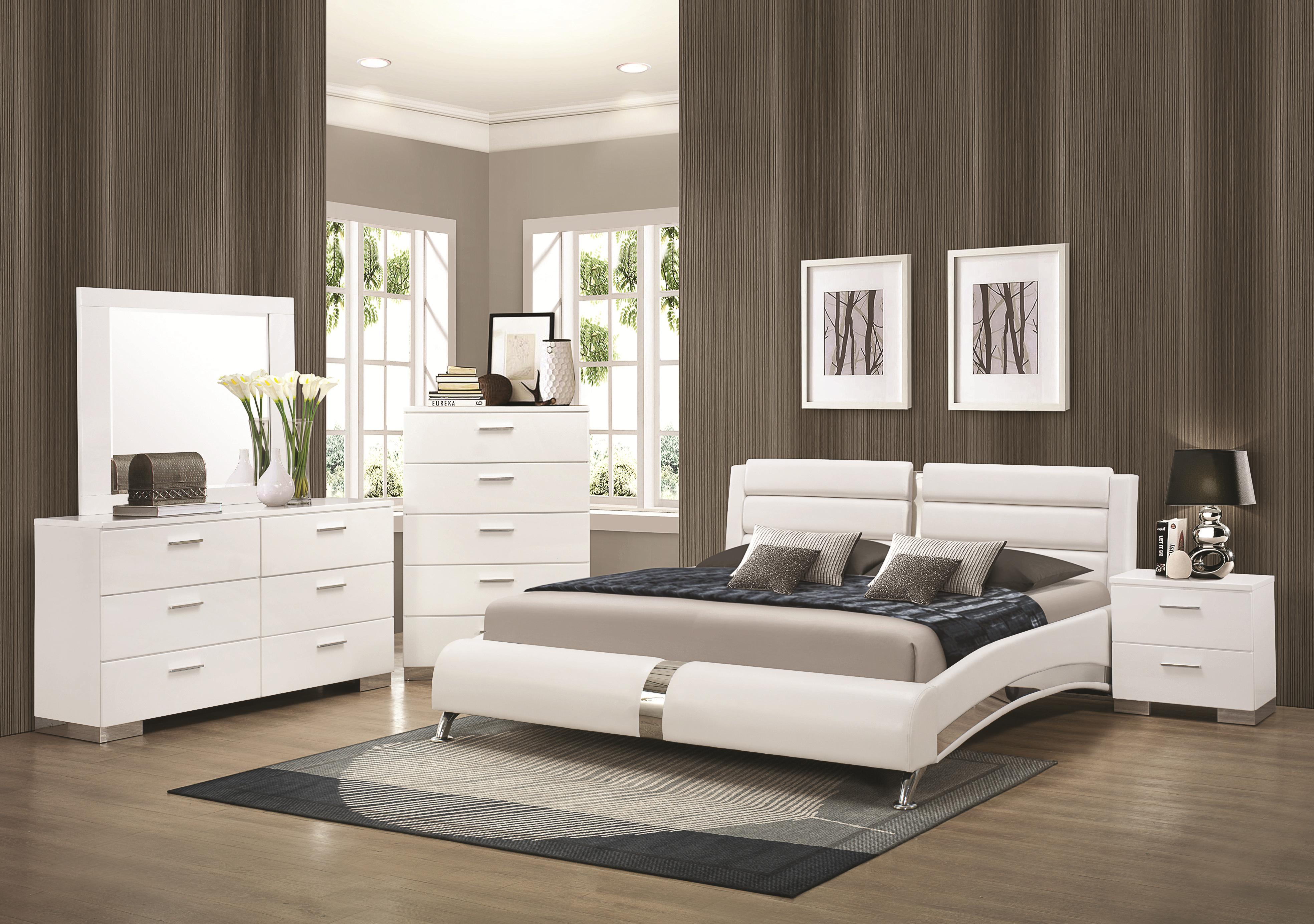Coaster Felicity King Curved 5pc Bedroom Group