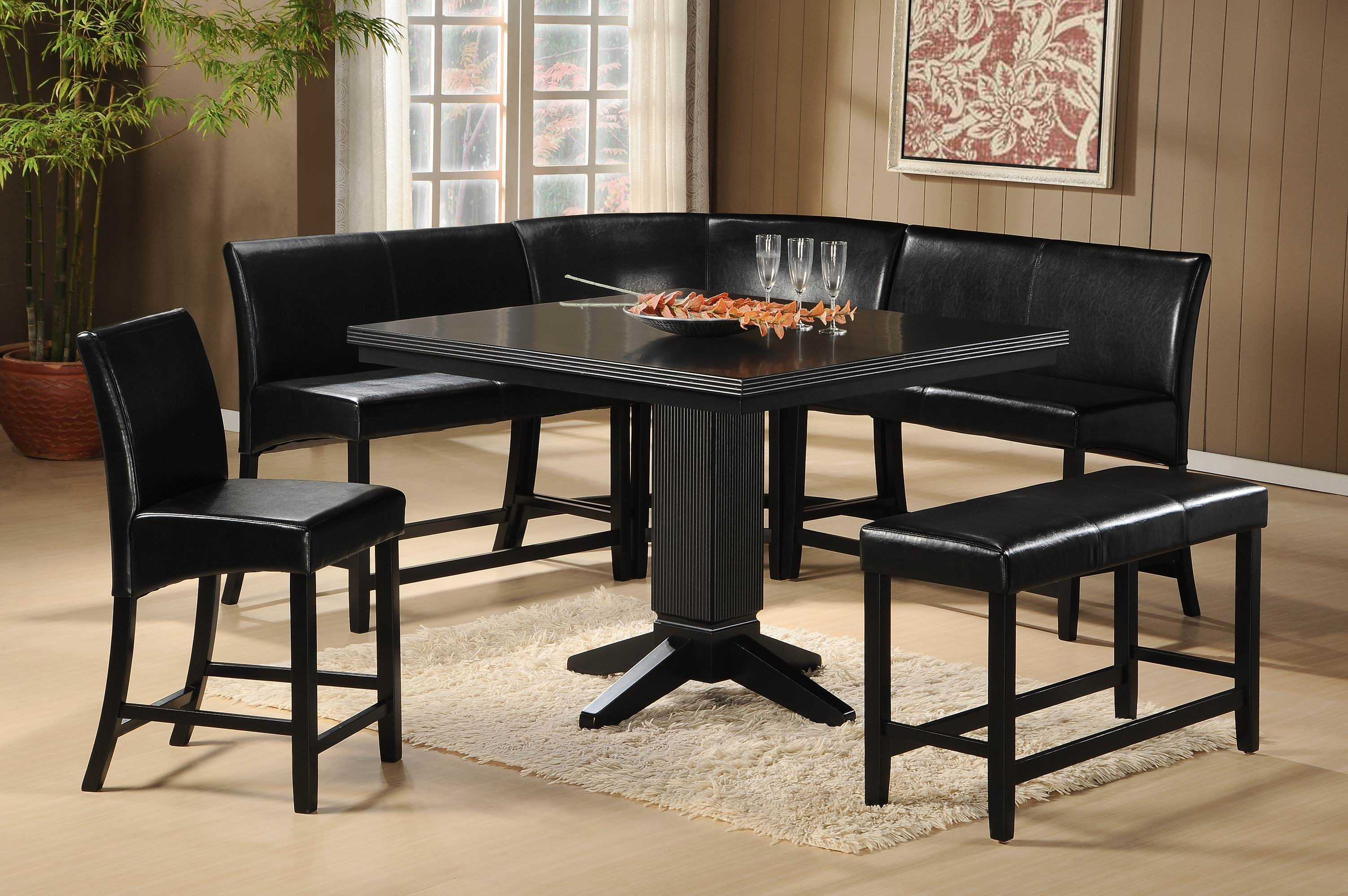 Papario 7pc Corner Nook Counter Height Dining Set Dallas