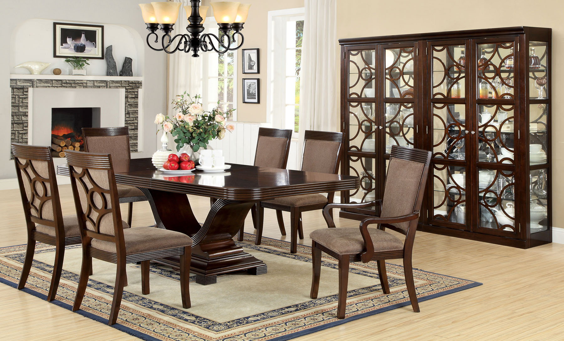 Foa Furniture Of America Woodmont 7pc Dining Room Set