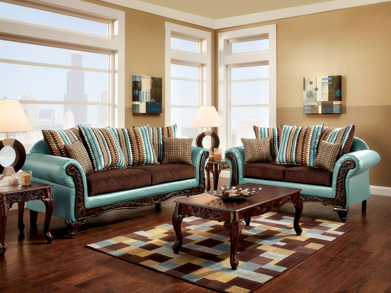 Picture of: Foa Furniture Of America Mulligan 2pc Sofa Loveseat Set Dallas Tx Living Room Set Furniture Nation