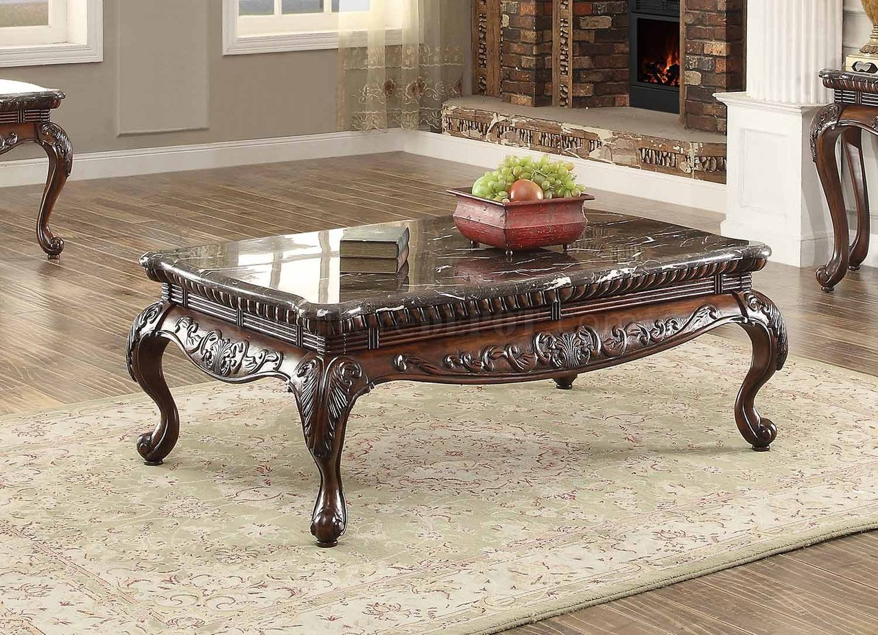 Homelegance Mariacarla Dark Cherry Coffee Table