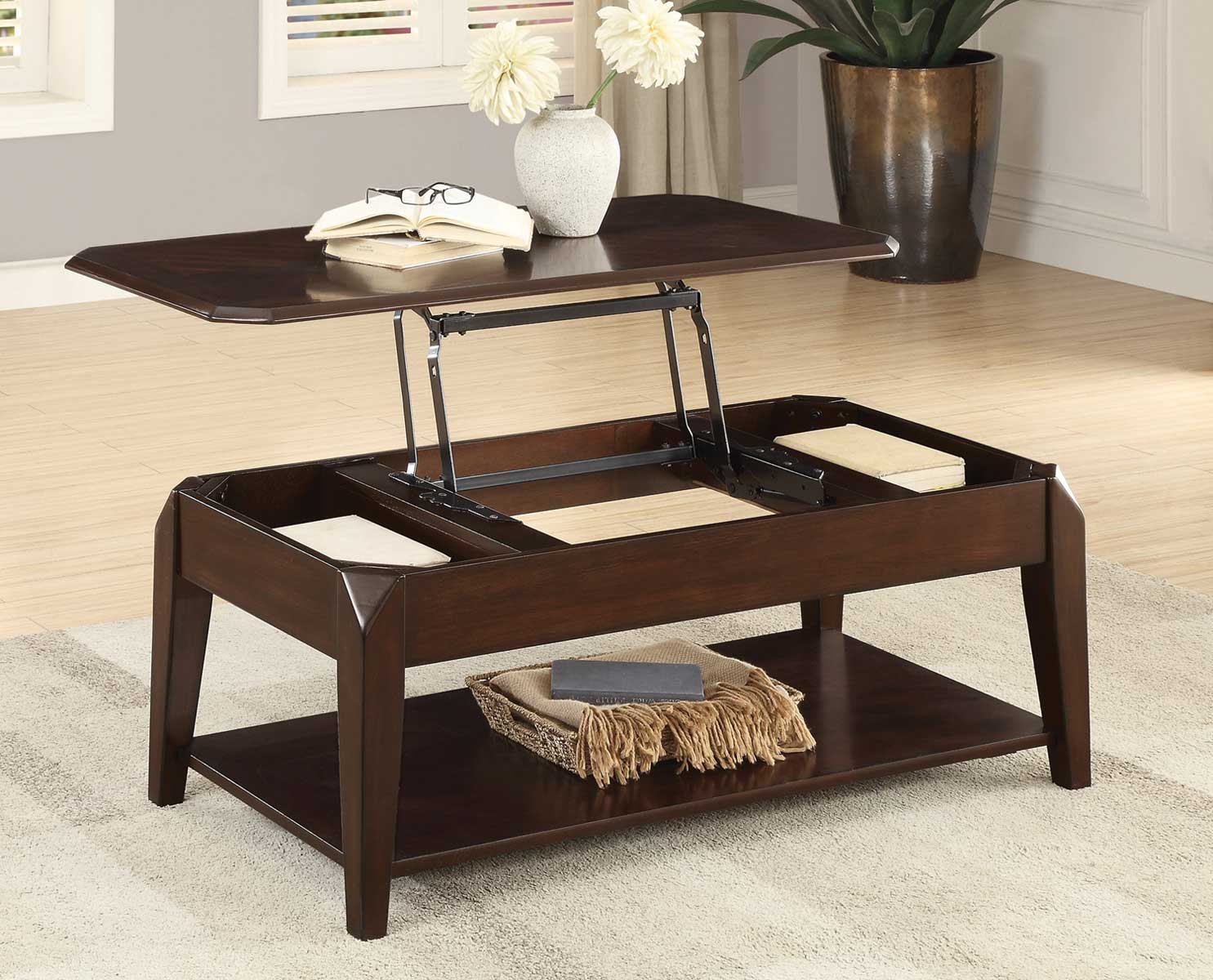 homelegance sikeston warm cherry lift top coffee table dallas tx occasional tables furniture. Black Bedroom Furniture Sets. Home Design Ideas