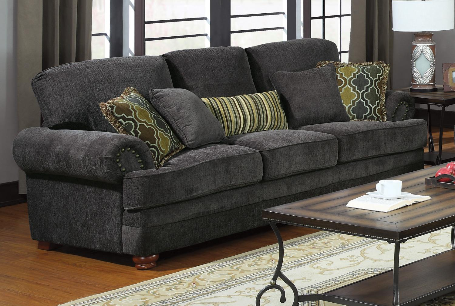 Coaster Colton Smokey Grey Sofa Dallas Tx Living Room