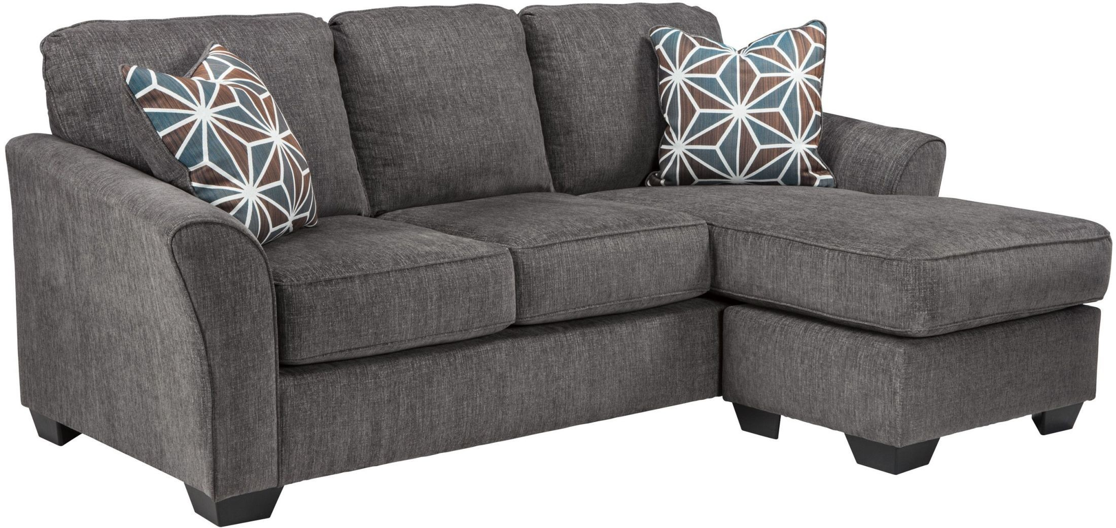 Ashley brise slate sofa chaise dallas tx living room for Ashley furniture chaise lounge couch