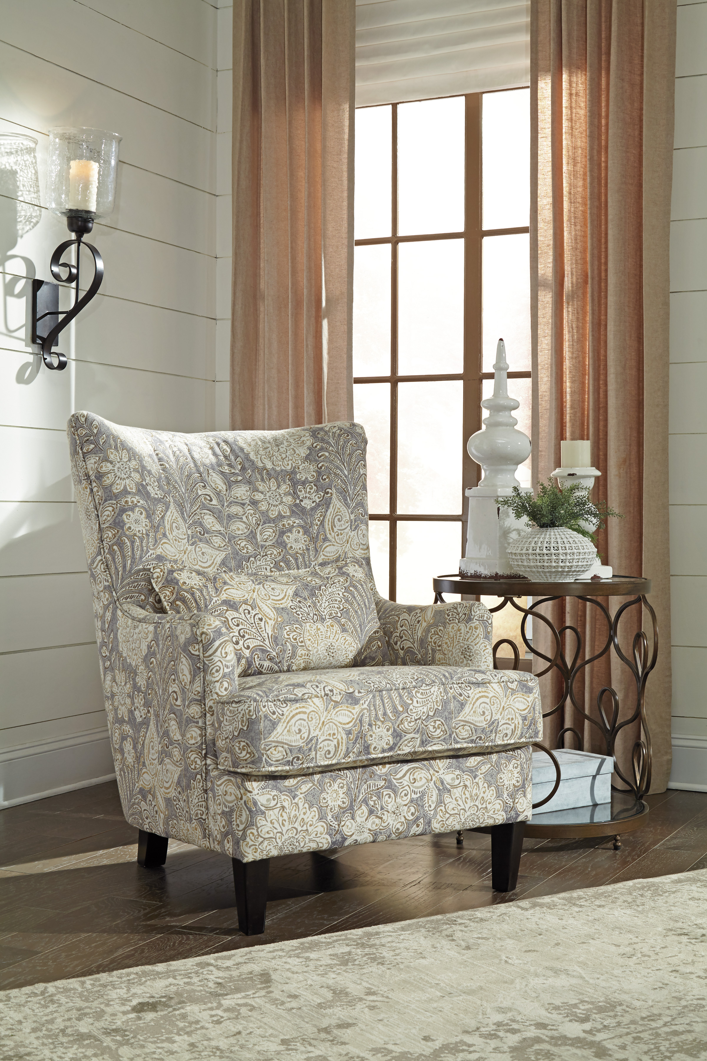 Ashley Avelynne Ocean Accent Chair Dallas Tx Living Room