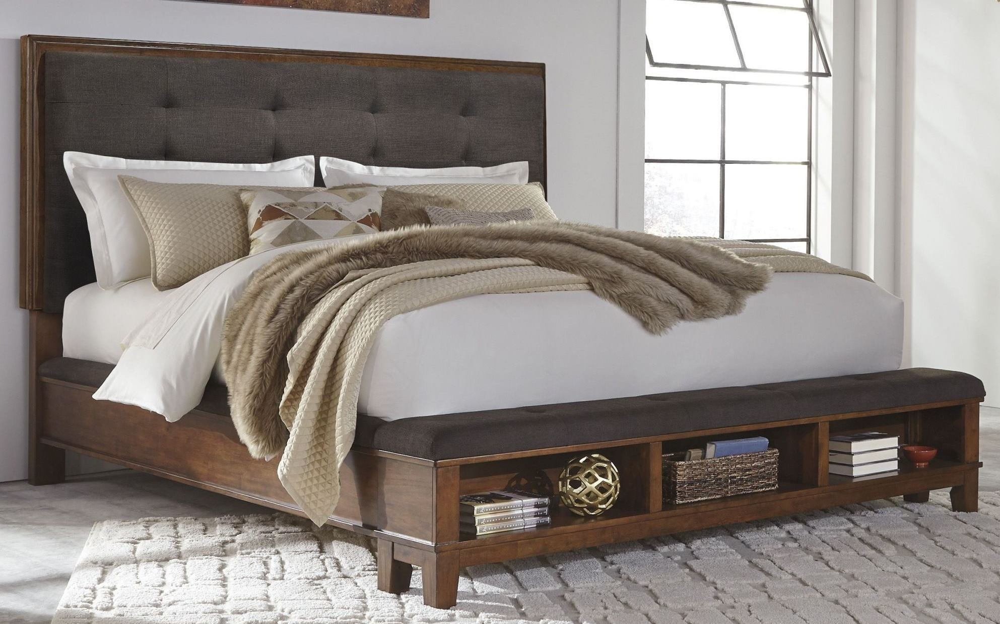 Picture of: Ashley Ralene Cal King Panel Storage Bed Dallas Tx Bedroom Bed Furniture Nation