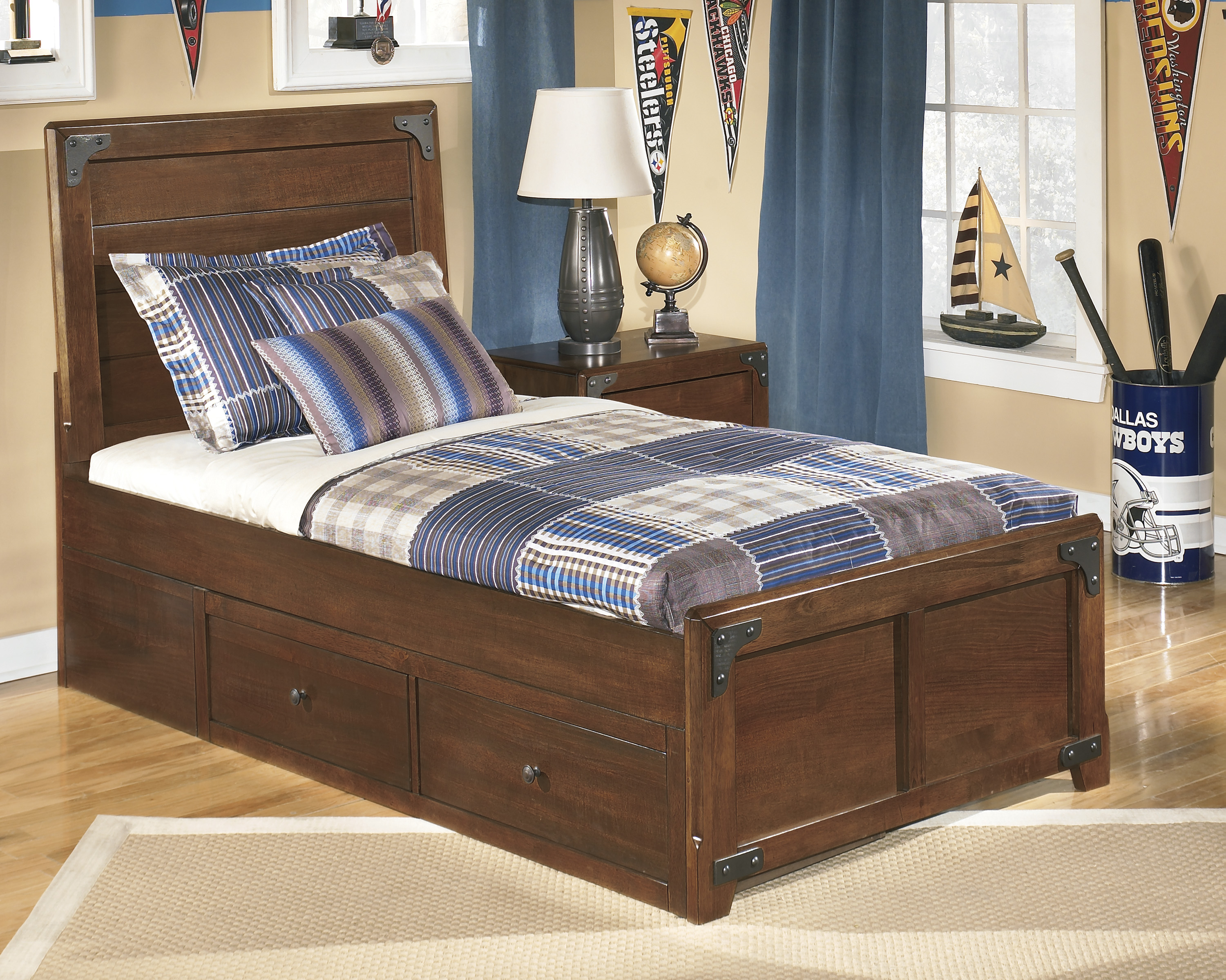 Ashley Delburne Twin Panel With Storage Bed Dallas Tx