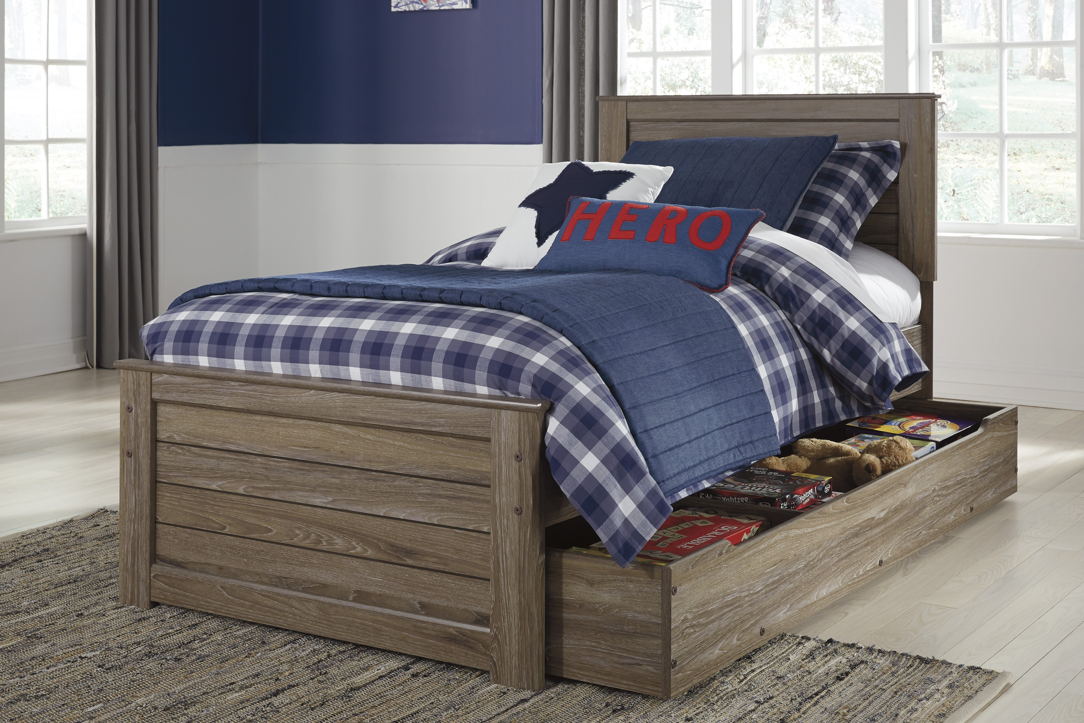 Ashley Javarin Twin Panel With Trundle Bed Dallas Tx