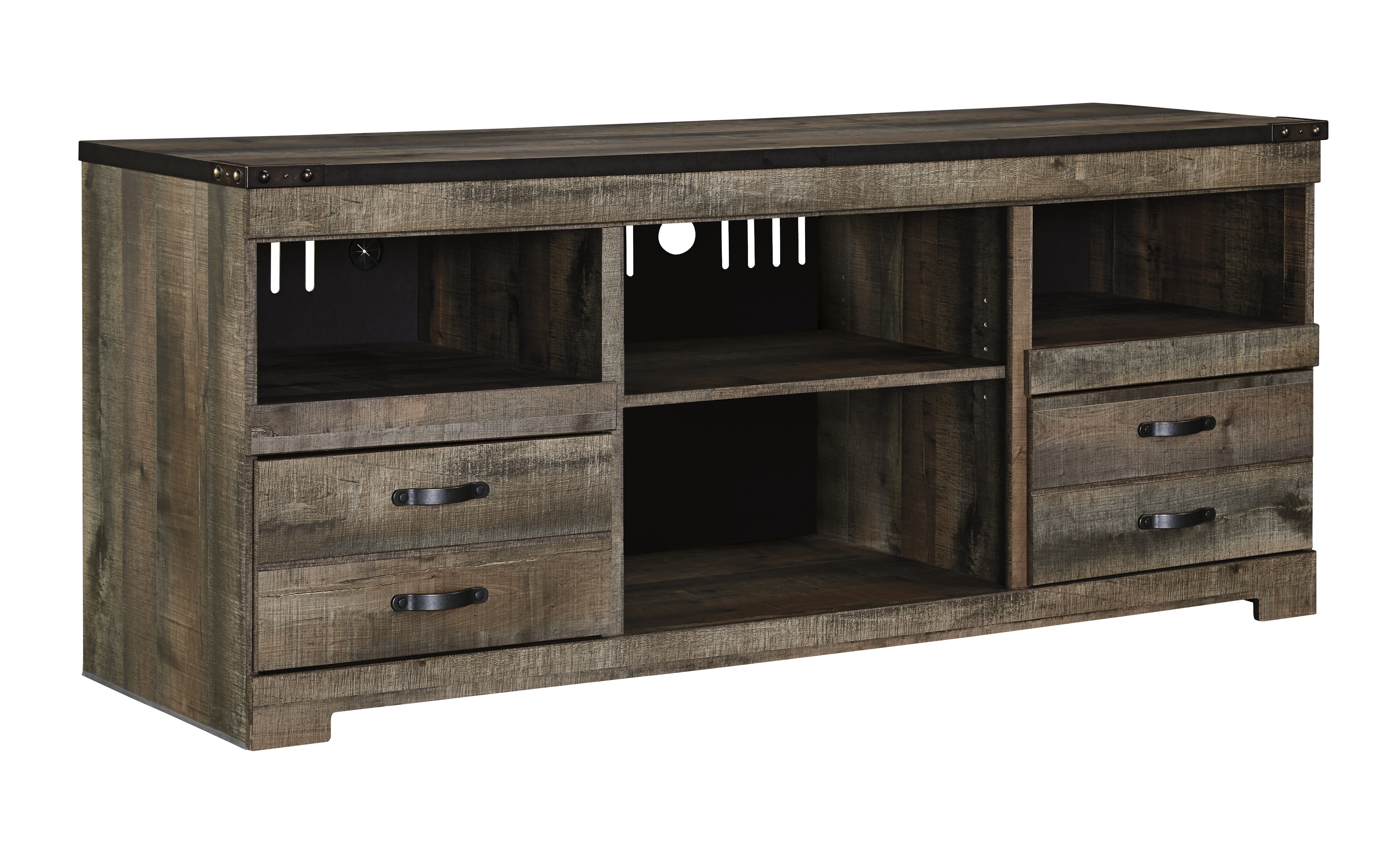 Ashley Trinell Brown Large Tv Console Dallas Tx