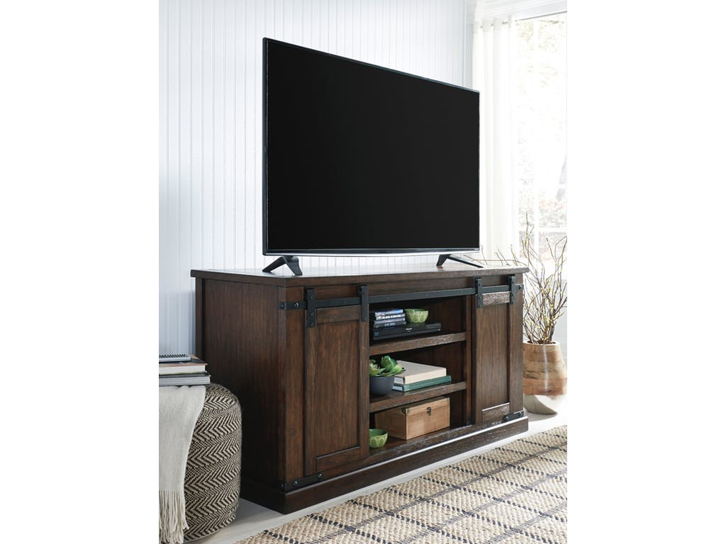 Ashley Budmore Rustic Brown Large Tv Stand Dallas Tx