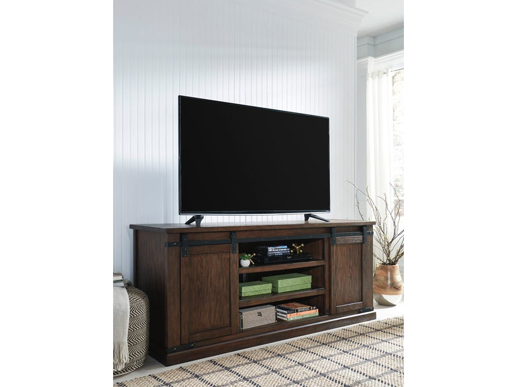 Ashley Budmore Rustic Brown Extra Large Tv Stand Dallas Tx