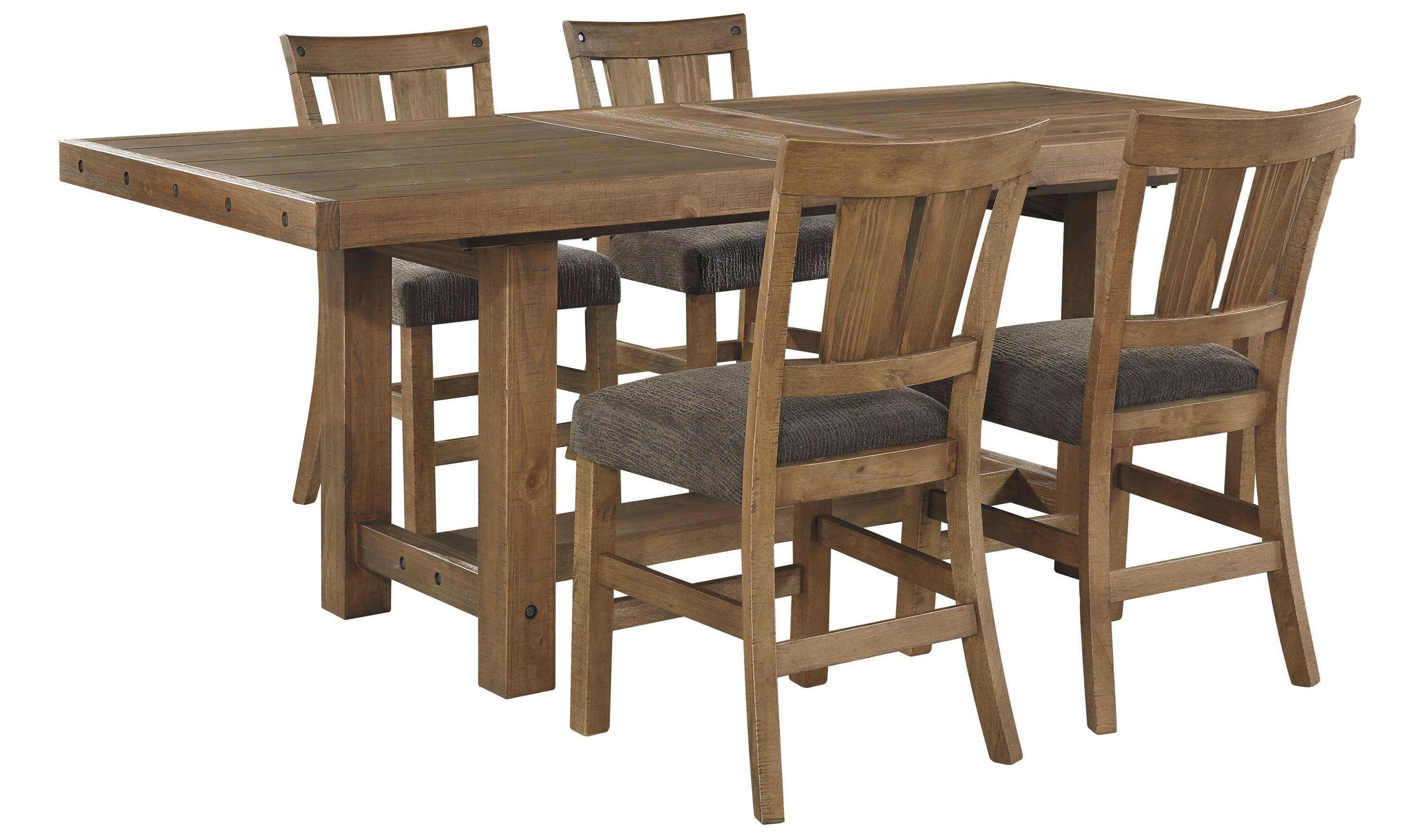 Ashley tamilo 5pc counter height dining set dallas tx for Counter height dining room sets