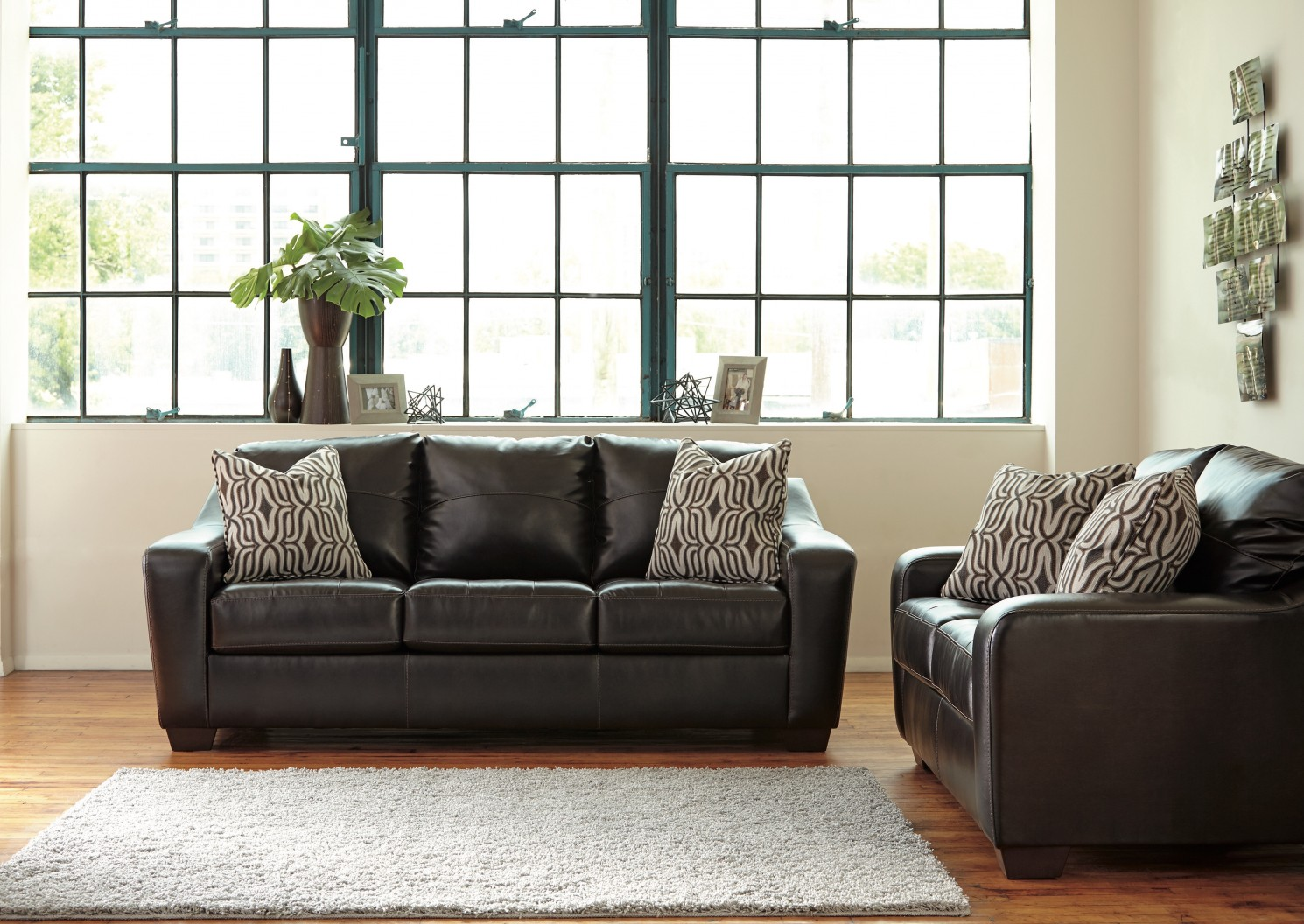 Ashley Coppell Durablend 2pc Chocolate Sofa Loveseat Set