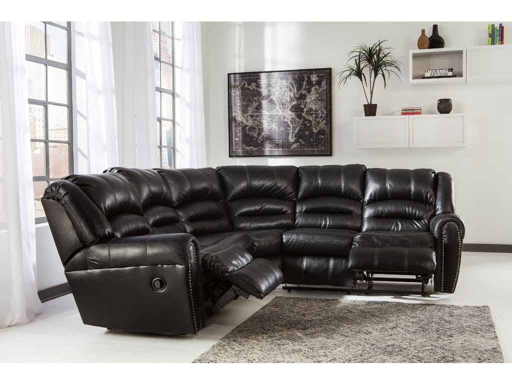 Ashley Manzanola Black 2pc Sectional Dallas Tx Living Room Sectional Furniture Nation