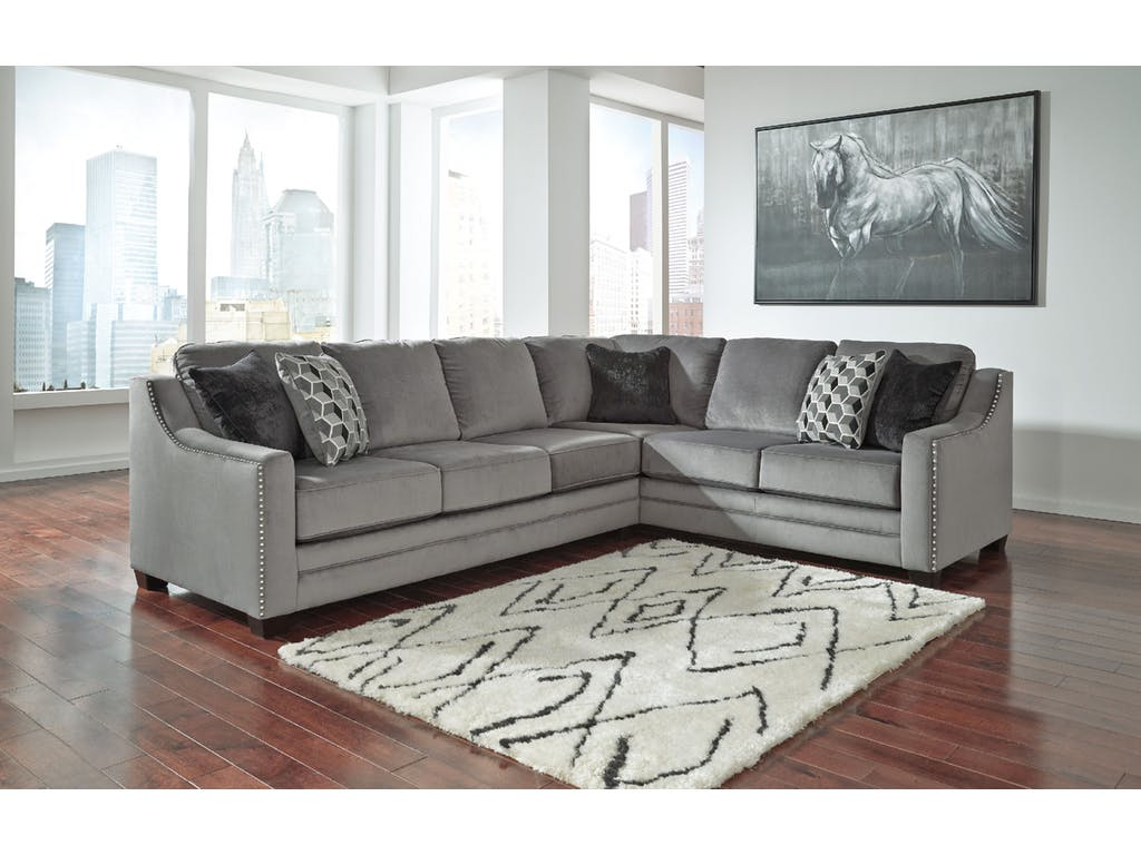 ashley bicknell 2pc right arm facing sofa with corner