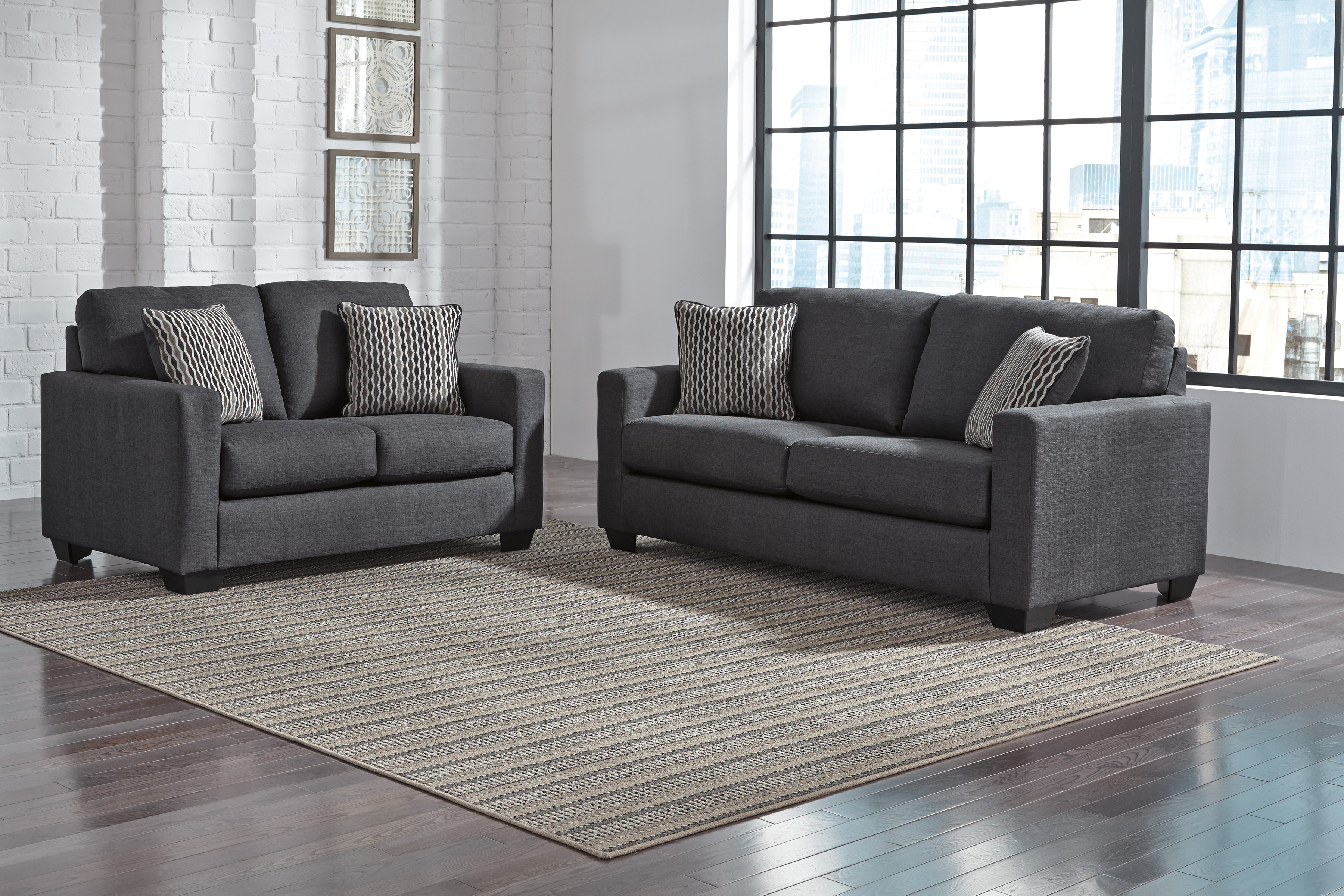 ashley bavello 2pc sofa amp loveseat set dallas tx living