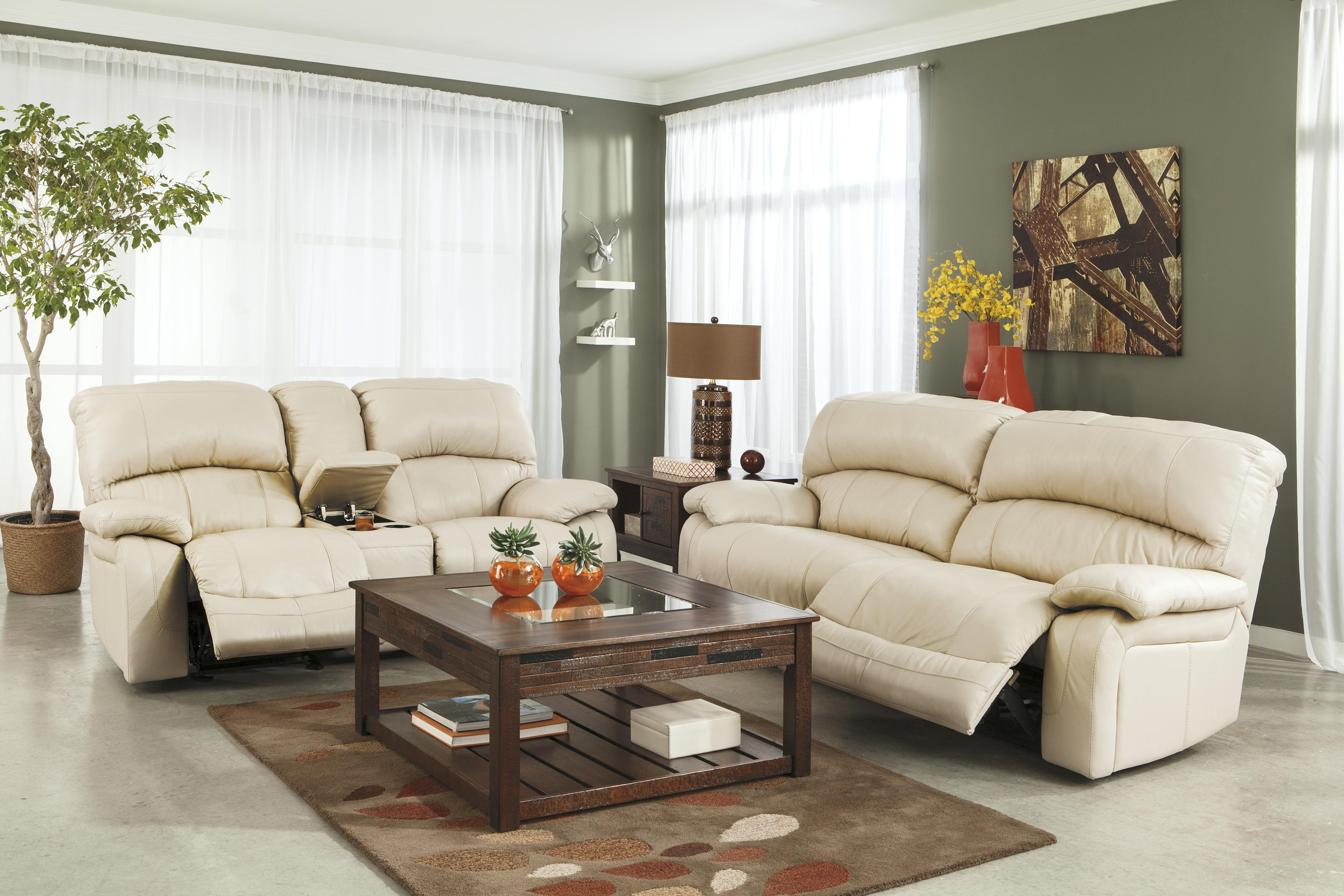 home living room living room set damacio 2pc cream reclining sofa