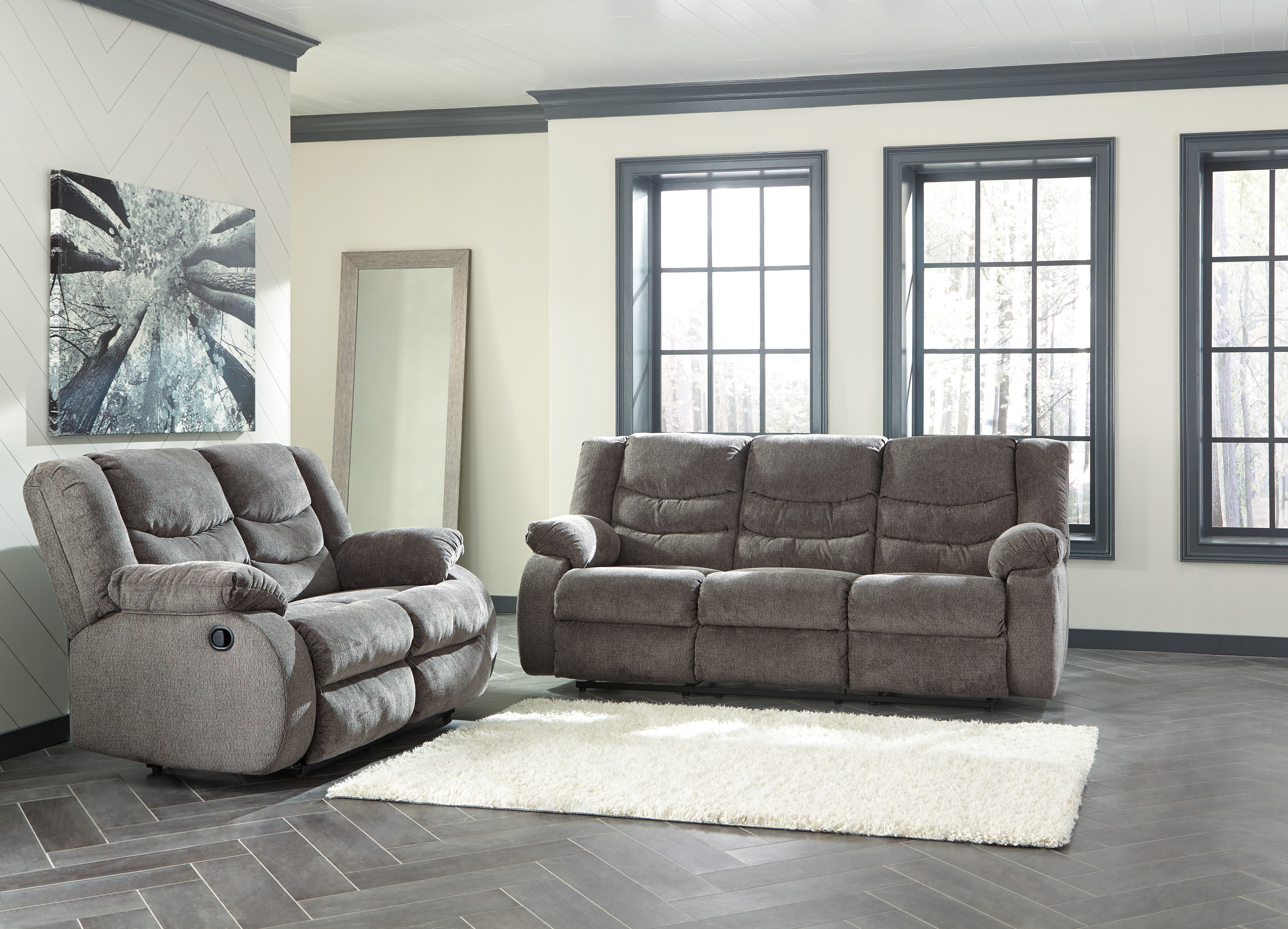 tulen 2pc grey sofa loveseat set dallas tx living room