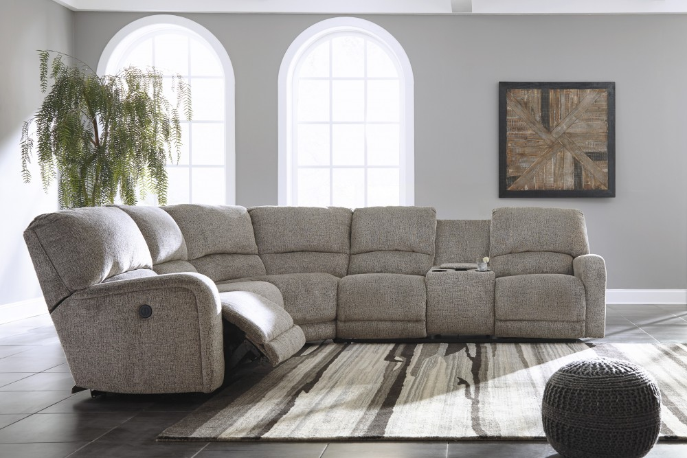 Ashley Pittsfield 4pc Fossil Right Arm Facing Loveseat