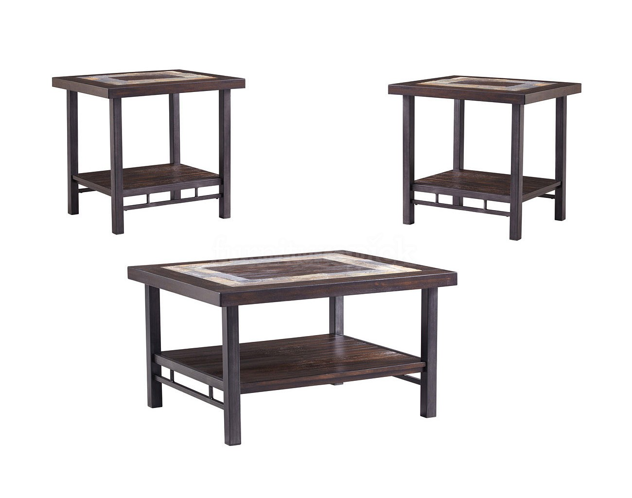 Ashley Gallivan 3pc Two Tone Coffee Table Set