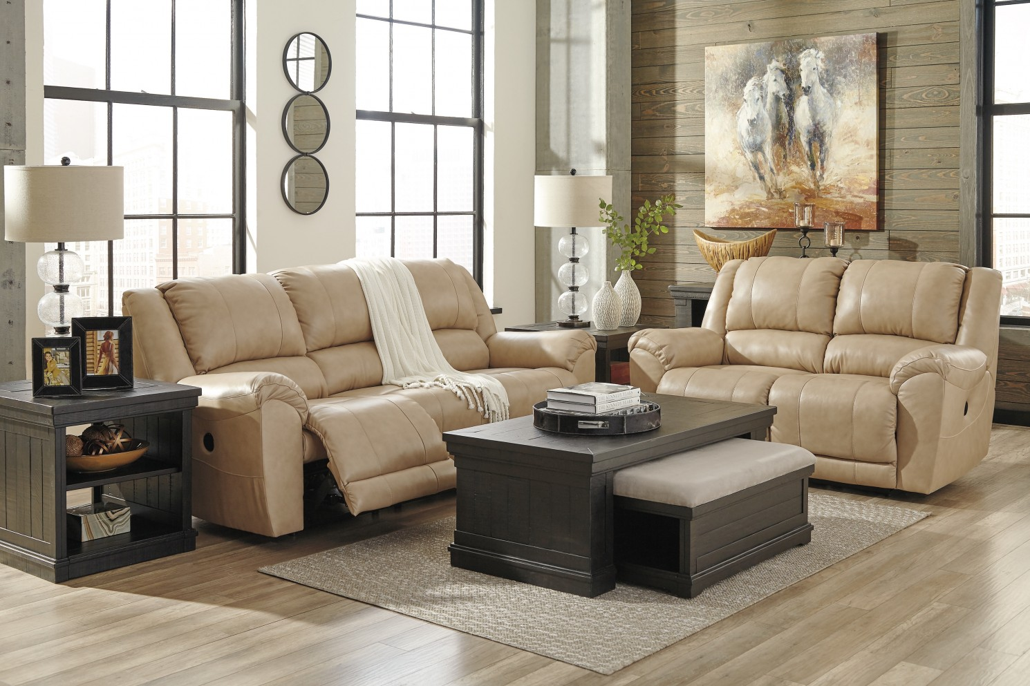 Sharlowe charcoal 3pc coffee table set dallas tx for Charcoal coffee table