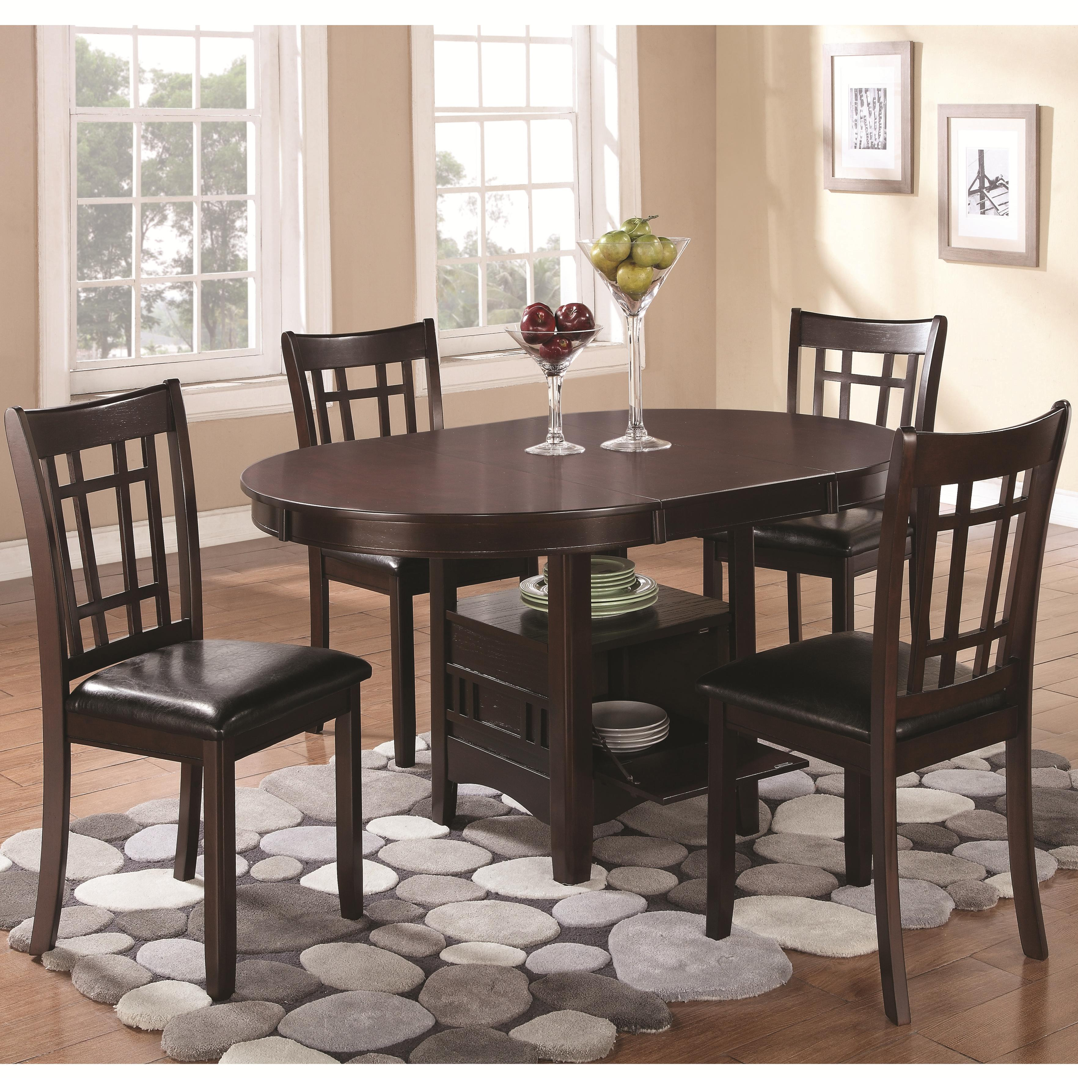 Coaster Lavon 5pc Espresso Dining Table Set
