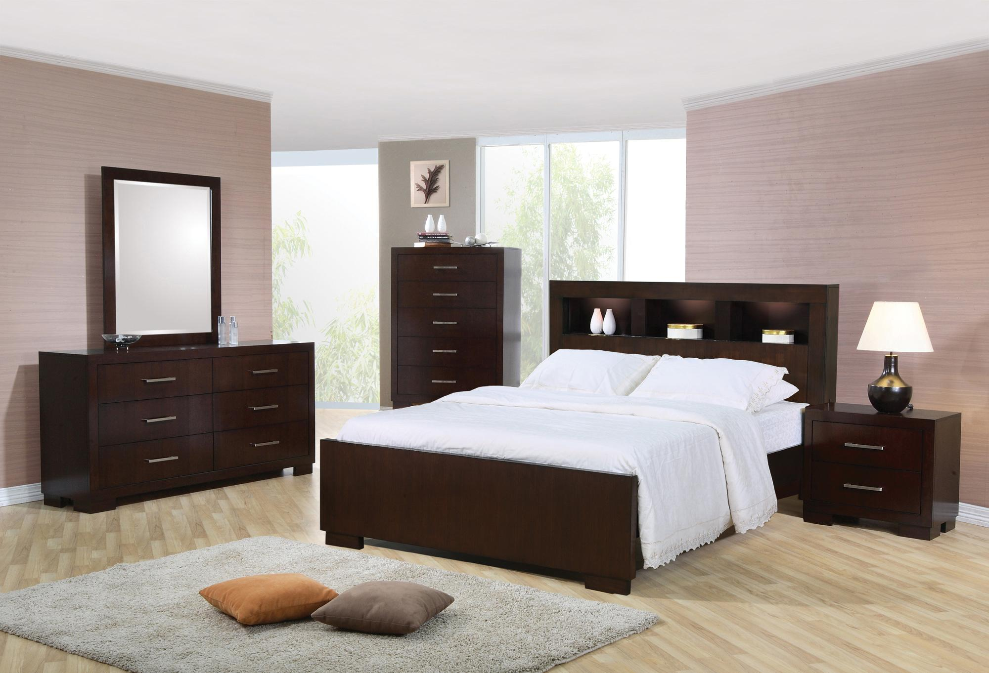Coaster Jessica 5pc Cal King Bookcase Bedroom Group