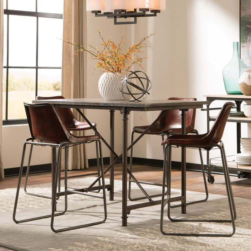 Dining Room Sets Dallas Tx: Coaster Antonelli 5pc Counter Height Dining Room Set