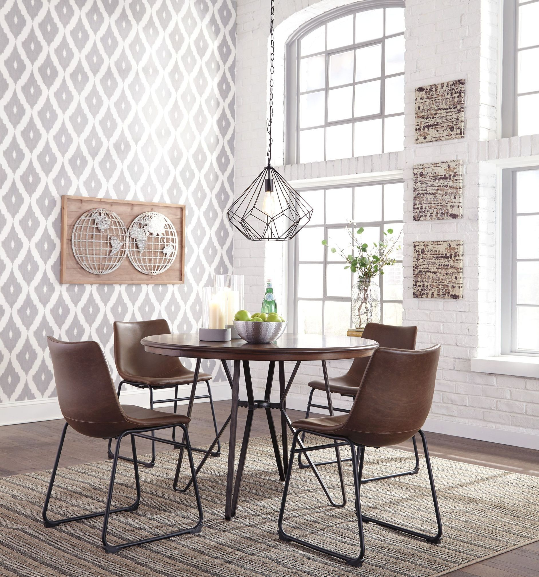 Dining Room Furniture Dallas Tx: Ashley Centiar 5pc Brown Dining Table Set Dallas TX