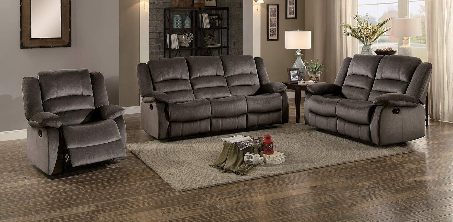 Double Reclining Sofa Love Seat
