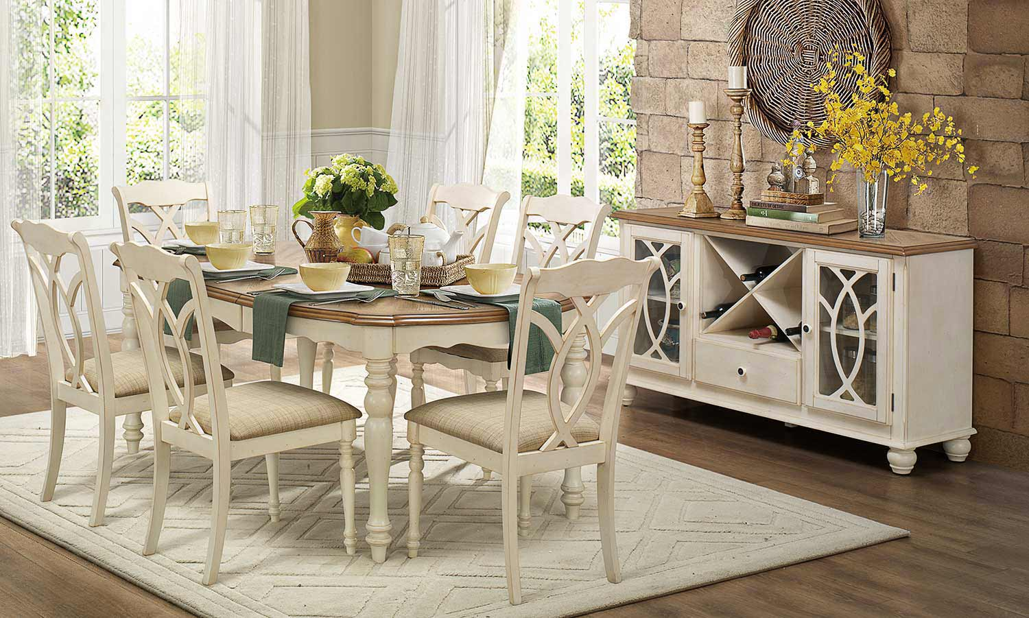 Homelegance Azalea 7pc Antique White Dining Table Set Available Online In Dallas Fort Worth Texas Please Upgrade To Full Version Of Magic Zoom